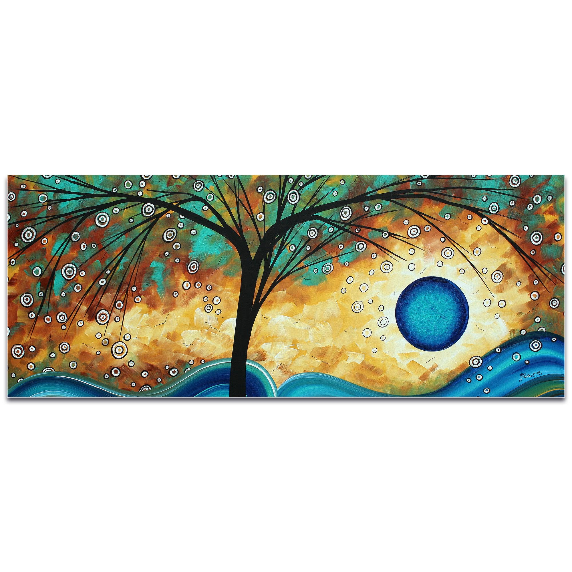 Landscape Painting 'Summer Blooms' - Abstract Tree Art on Metal or Acrylic - Image 2