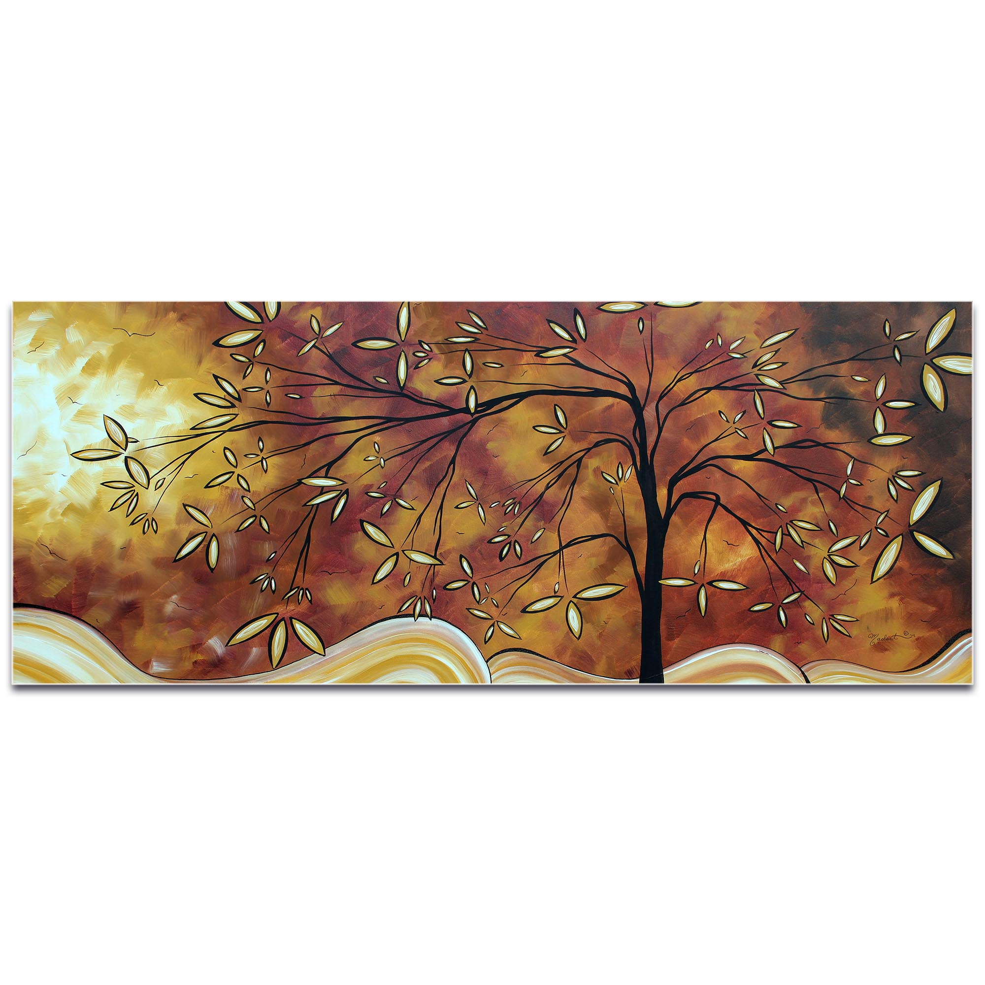 Landscape Painting 'The Wishing Tree' - Abstract Tree Art on Metal or Acrylic - Image 2