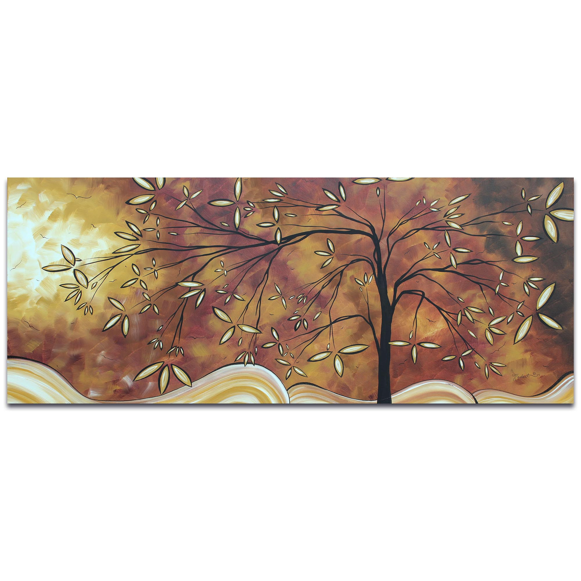 Landscape Painting 'The Wishing Tree' - Abstract Tree Art on Metal or Acrylic