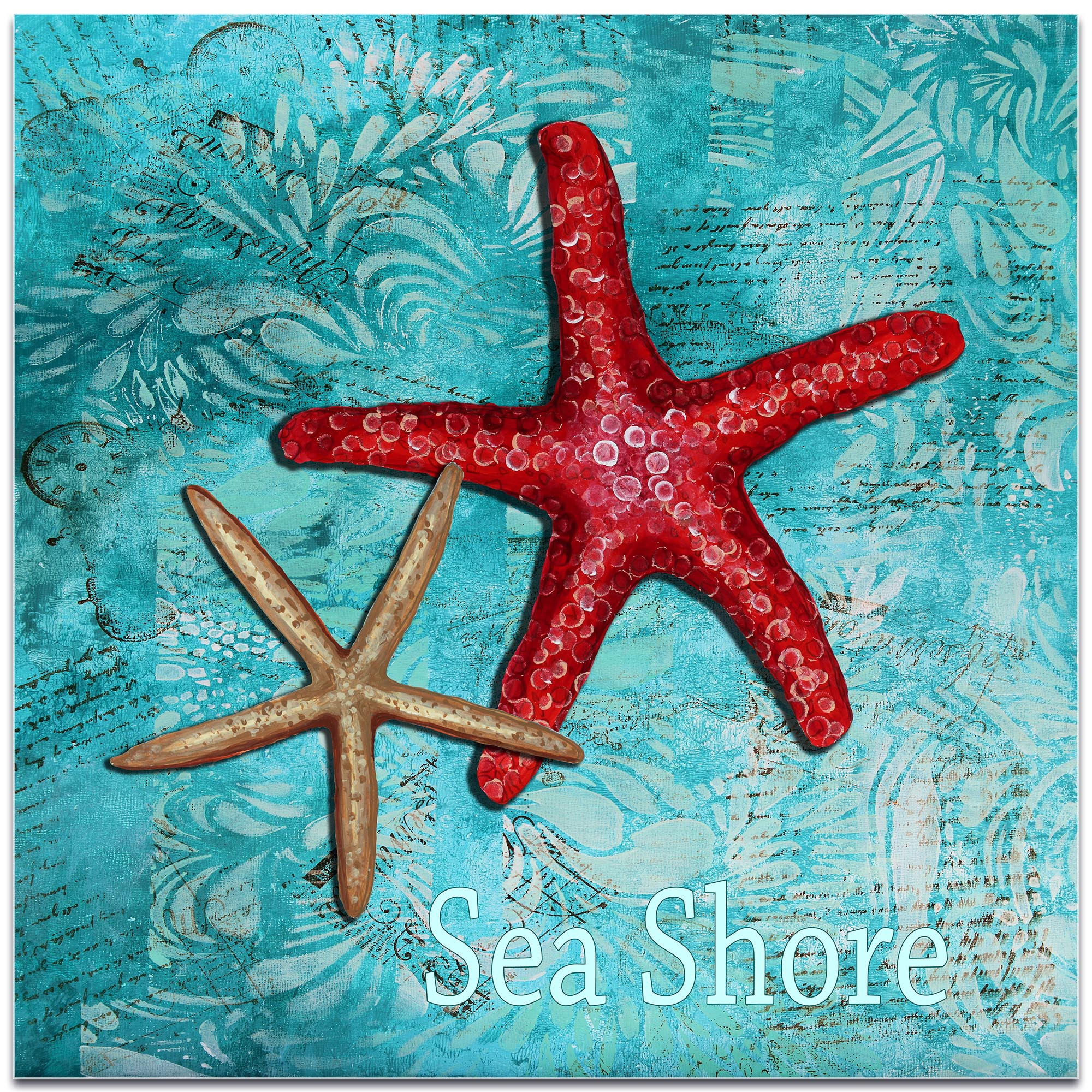Starfish Wall Art 'Sea Shore' - Coastal Decor on Metal or Acrylic - Image 2