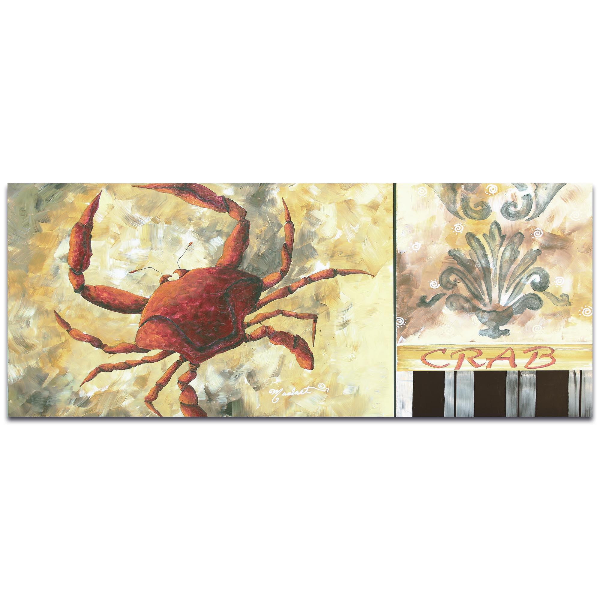 Metal Art Studio - Crab by Megan Duncanson - Coastal Decor on Metal ...