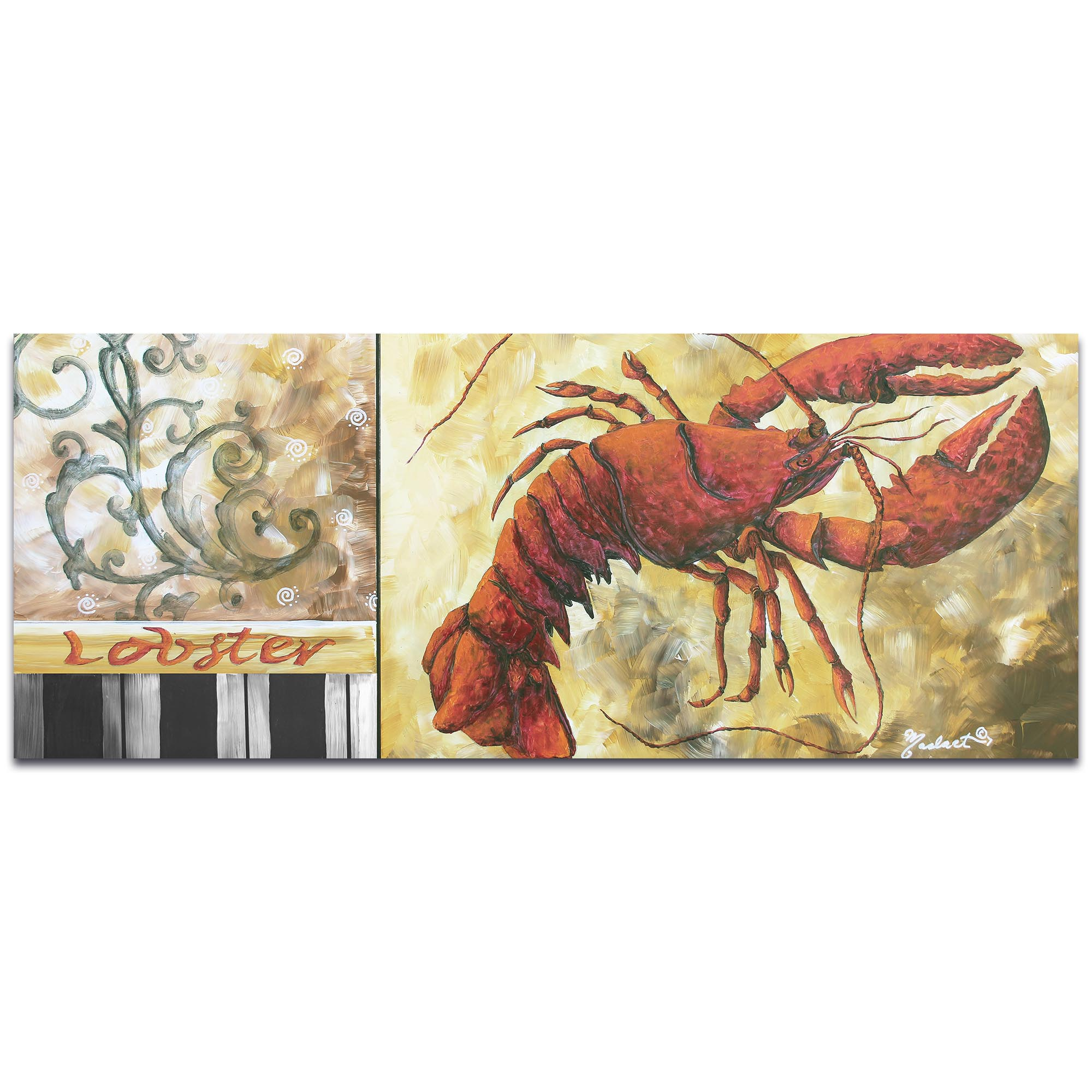 Coastal Decor 'Lobster' - Beach Wall Art on Metal or Acrylic