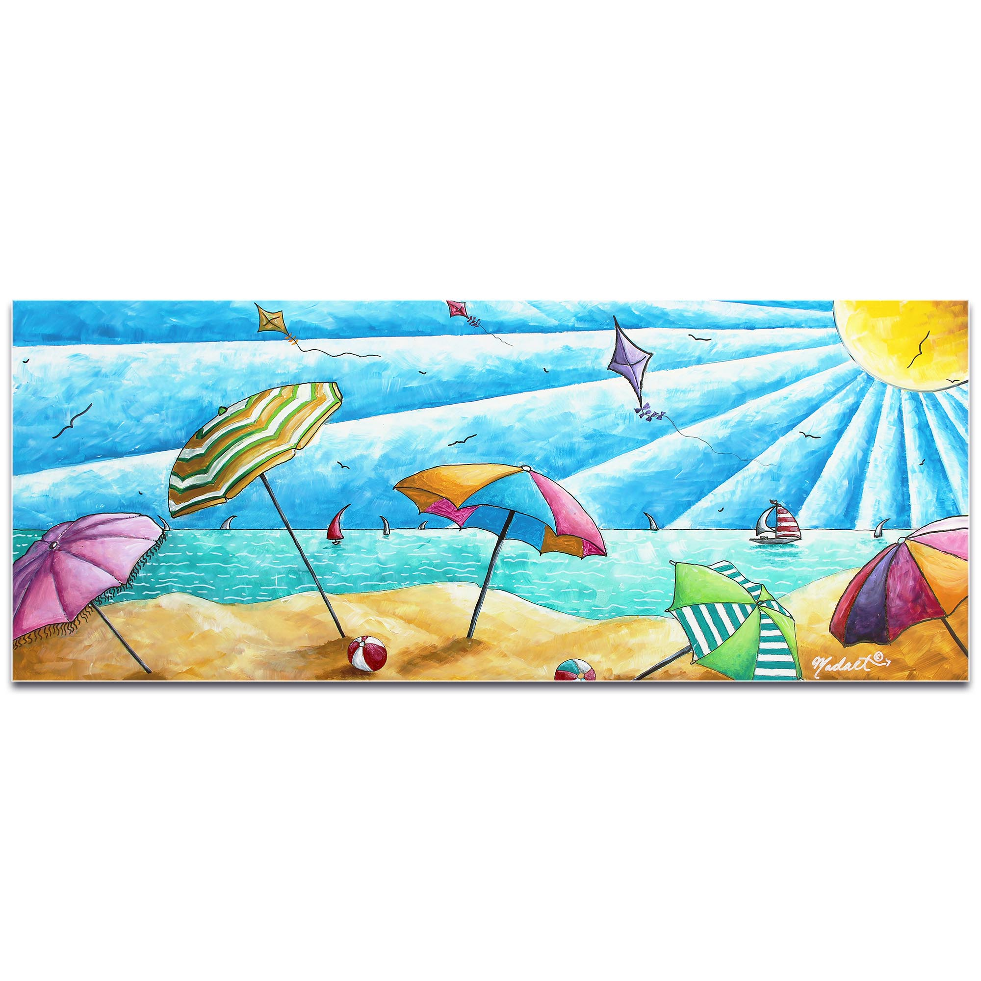 Beach Painting 'Beach Life v2' - Tropical Wall Art on Metal or Acrylic - Image 2