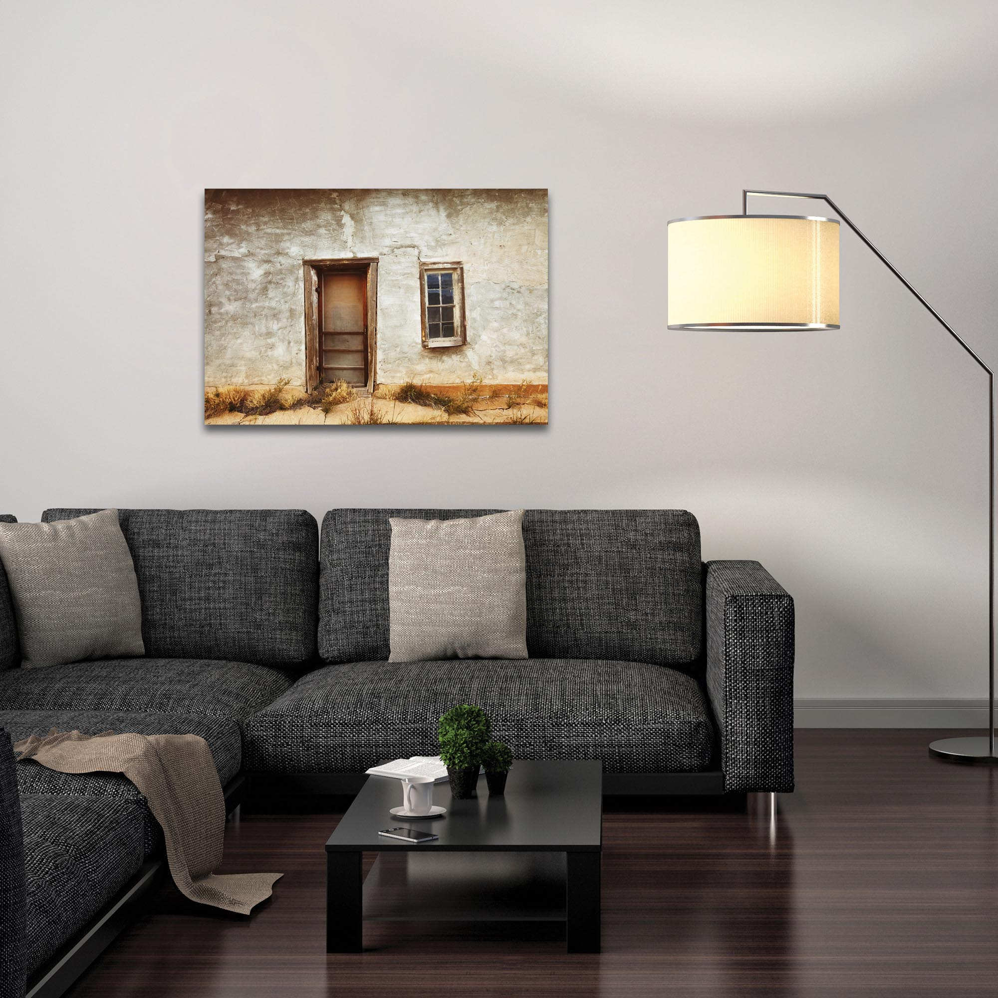 Eclectic Wall Art 'Southern Door' - Architecture Decor on Metal or Plexiglass - Lifestyle View
