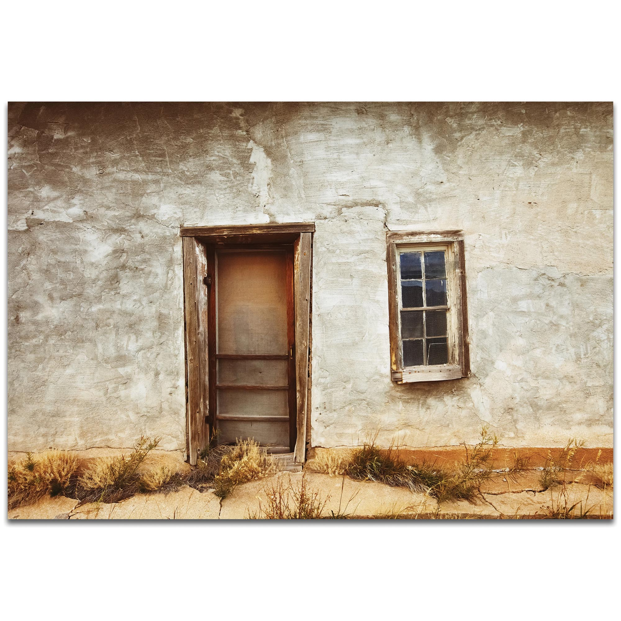 Eclectic Wall Art 'Southern Door' - Architecture Decor on Metal or Plexiglass
