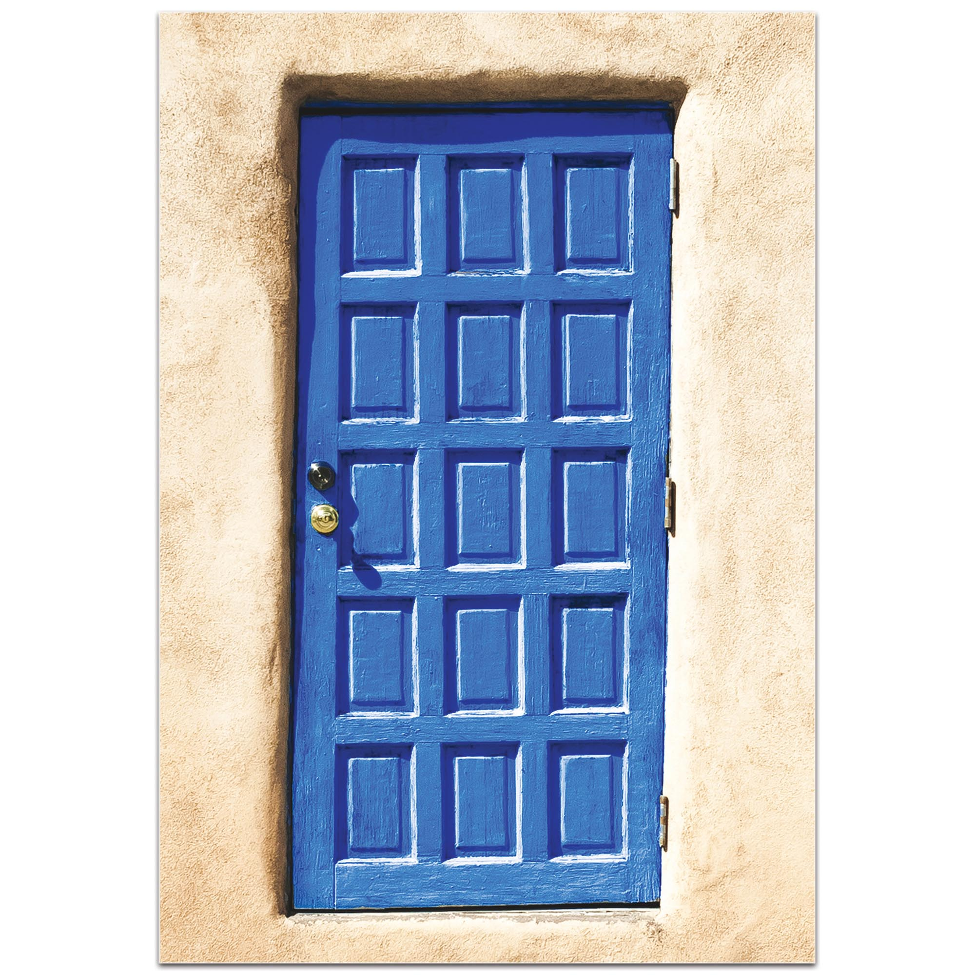 Eclectic Wall Art 'Blue Door' - Architecture Decor on Metal or Plexiglass - Image 2