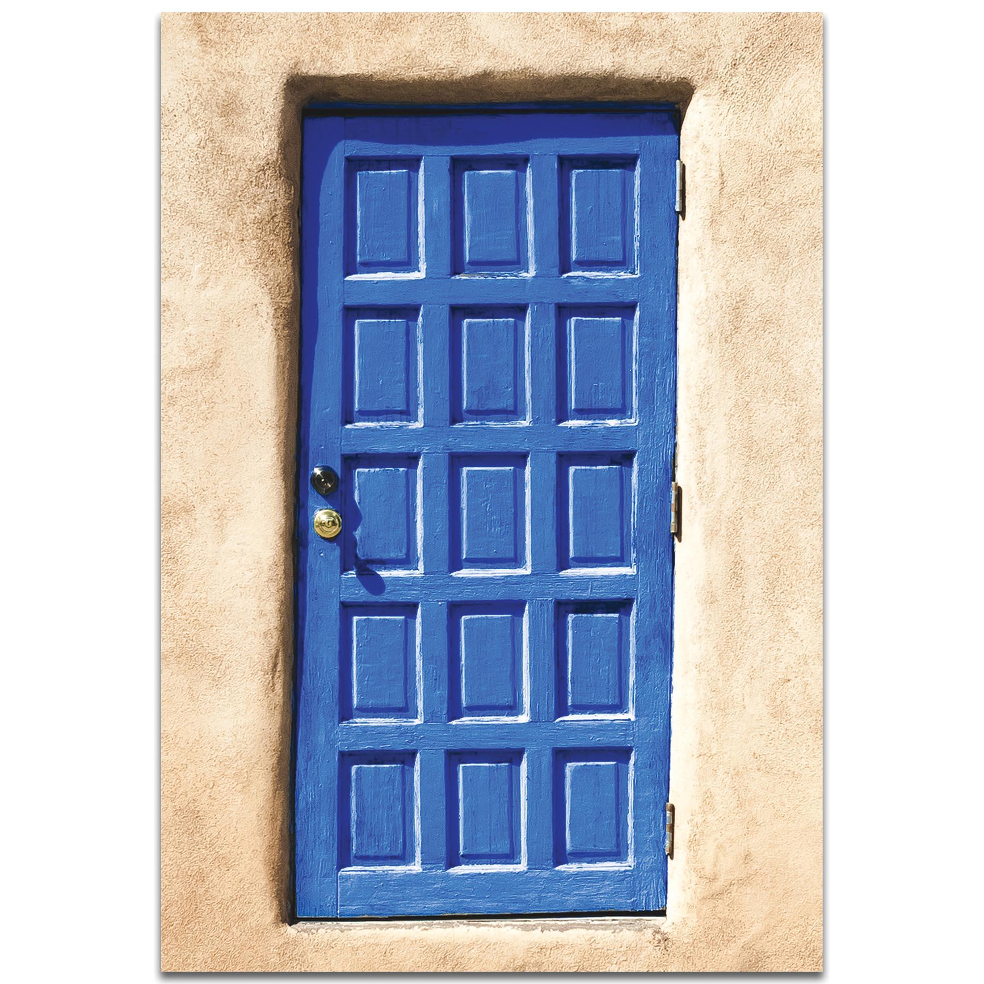 Eclectic Wall Art 'Blue Door' - Architecture Decor on Metal or Plexiglass