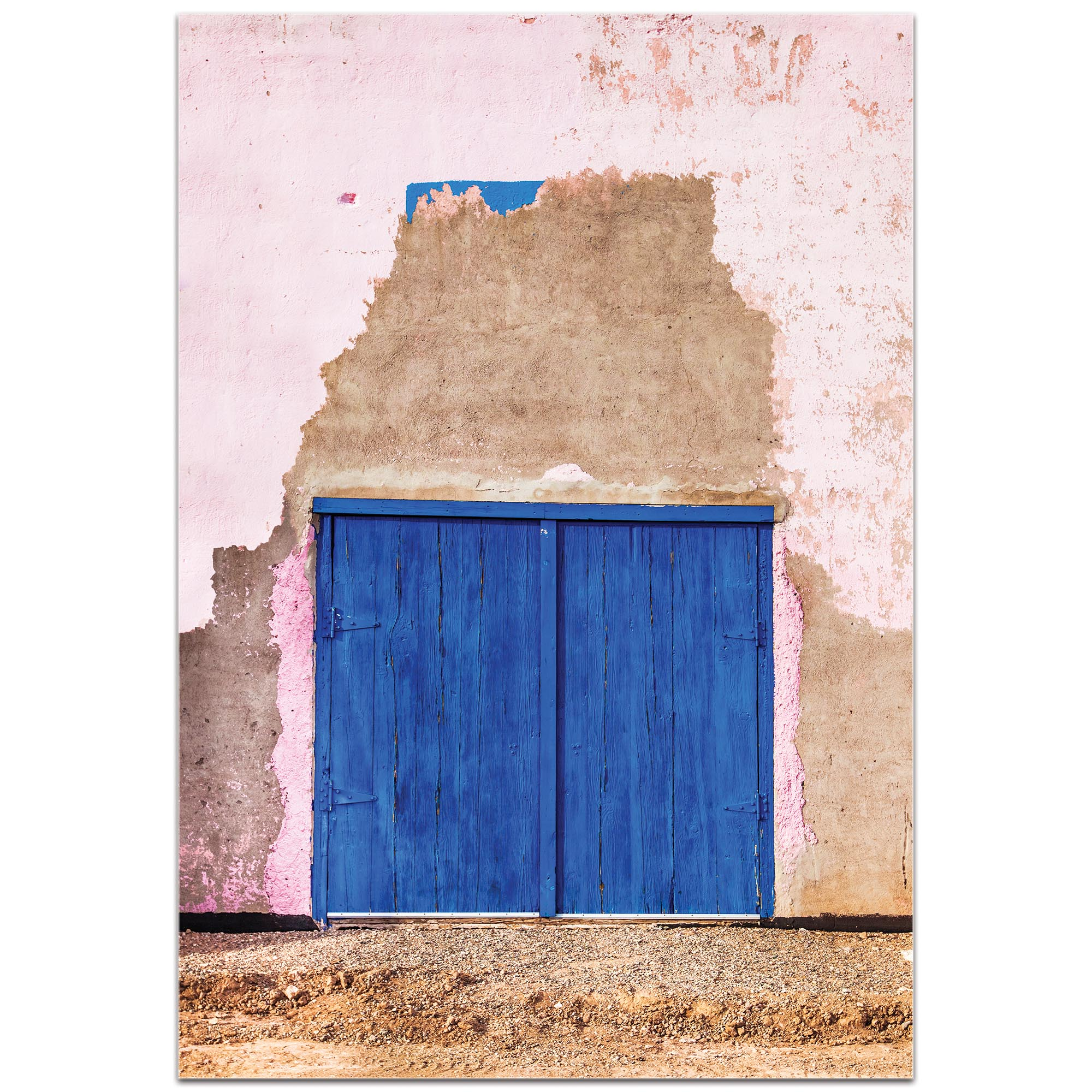 Eclectic Wall Art 'Blue Double Door' - Architecture Decor on Metal or Plexiglass - Image 2