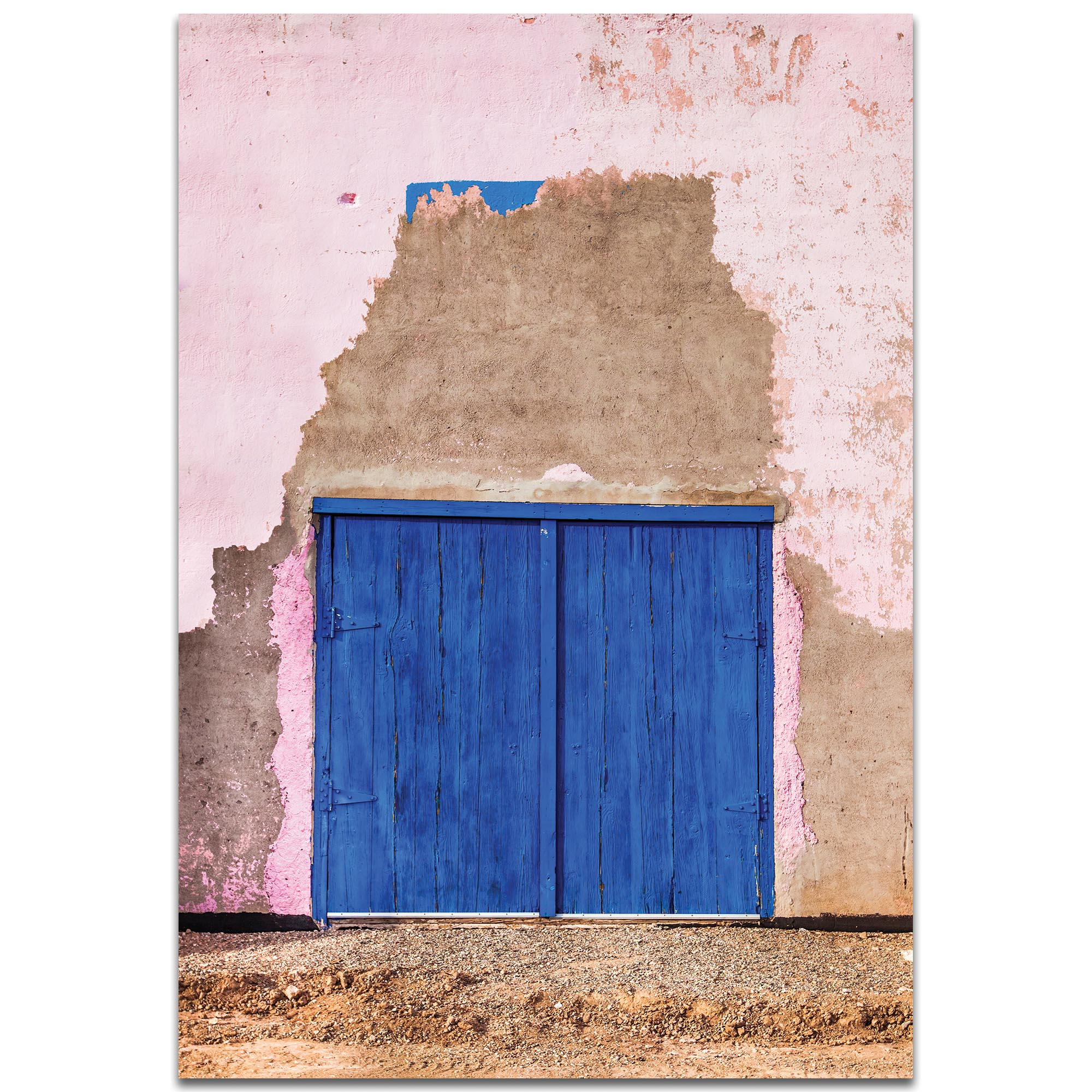 Eclectic Wall Art 'Blue Double Door' - Architecture Decor on Metal or Plexiglass