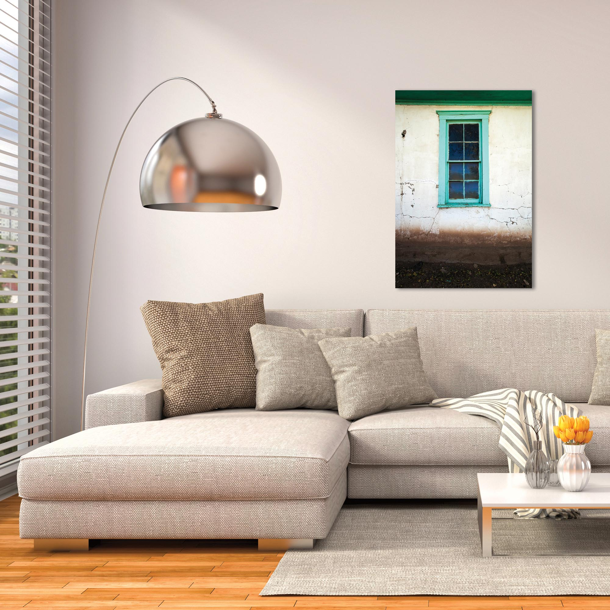 Eclectic Wall Art 'Bay Window' - Architecture Decor on Metal or Plexiglass - Lifestyle View