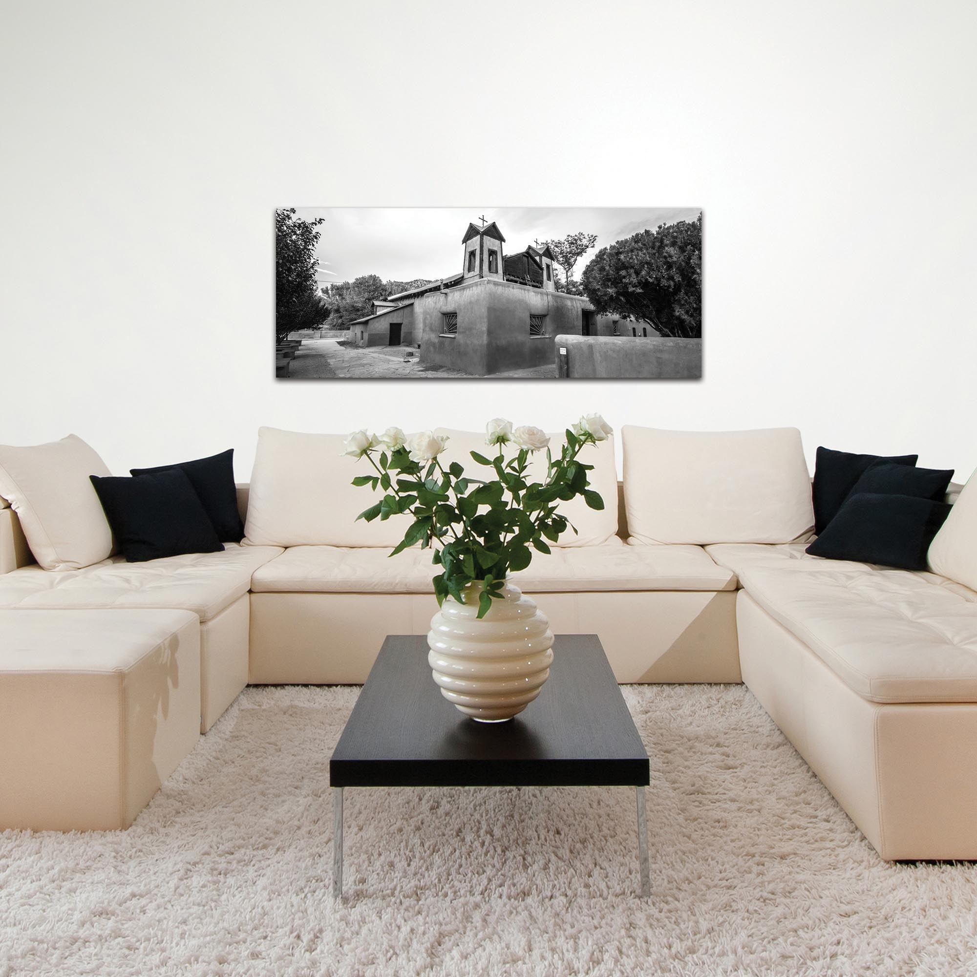 Eclectic Wall Art 'The Church' - Architecture Decor on Metal or Plexiglass - Lifestyle View