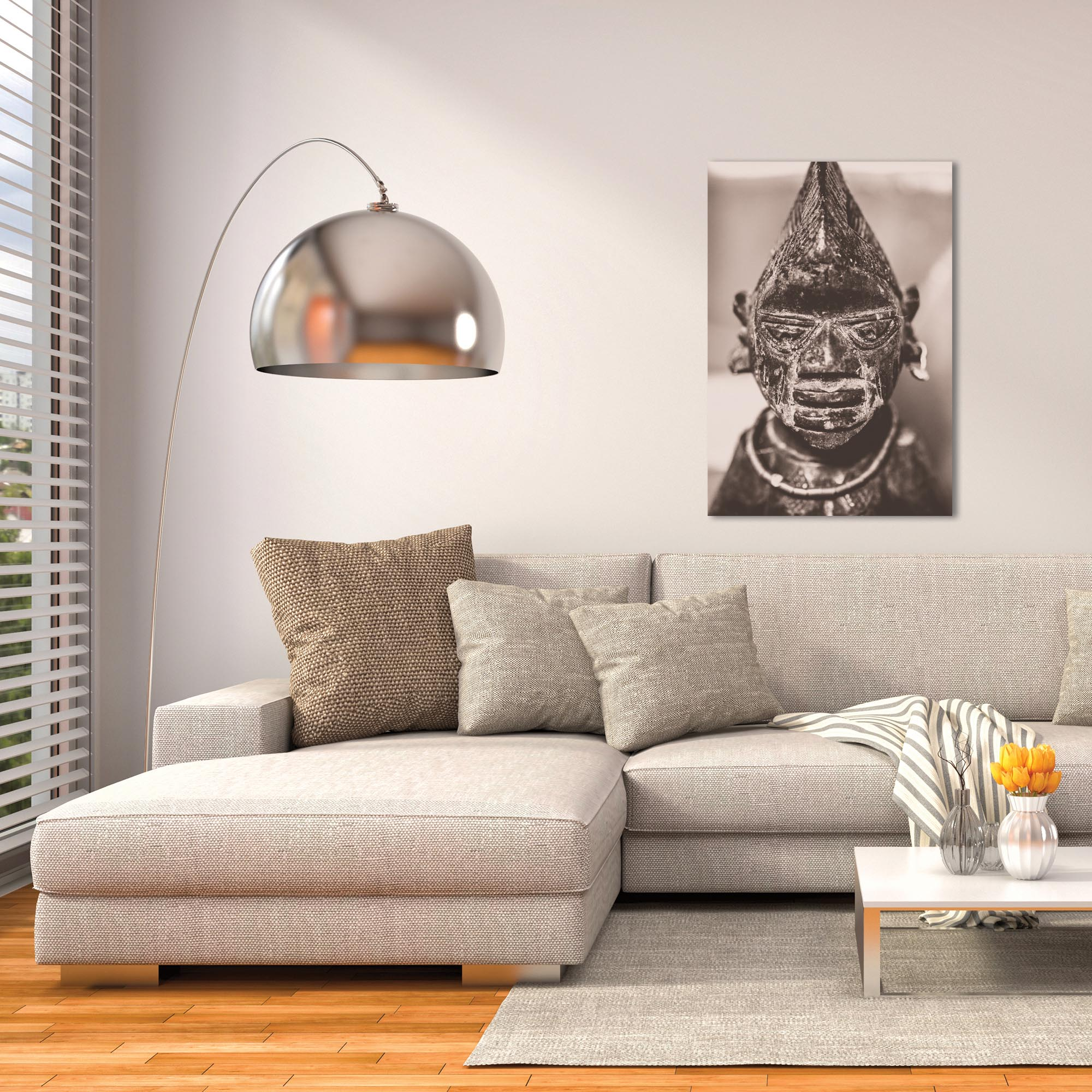 Eclectic Wall Art 'Voodoo Statue' - Religion Decor on Metal or Plexiglass - Lifestyle View