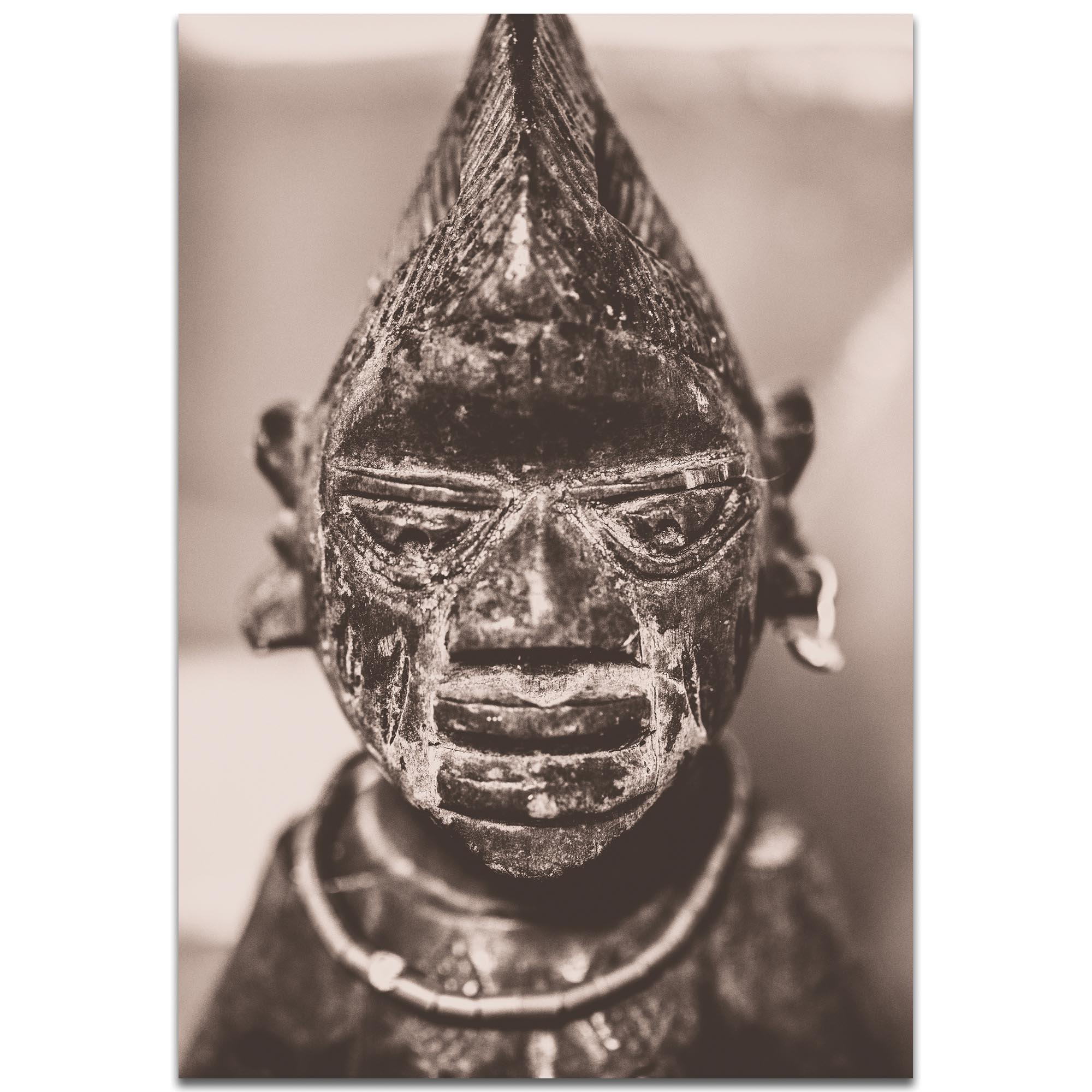 Eclectic Wall Art 'Voodoo Statue' - Religion Decor on Metal or Plexiglass