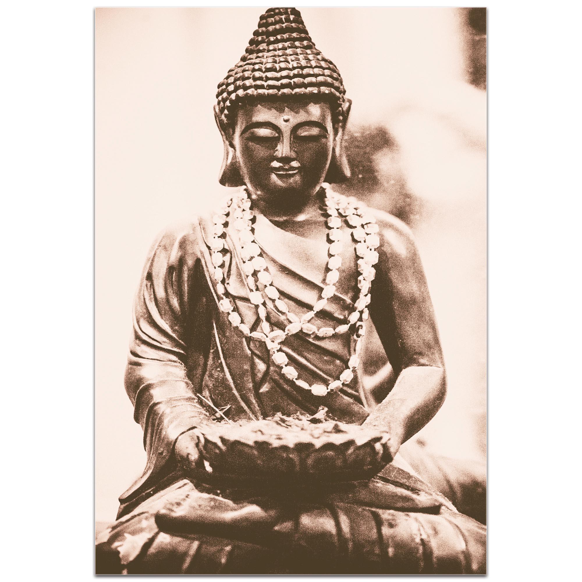 Eclectic Wall Art 'Buddha Statue' - Religion Decor on Metal or Plexiglass - Image 2
