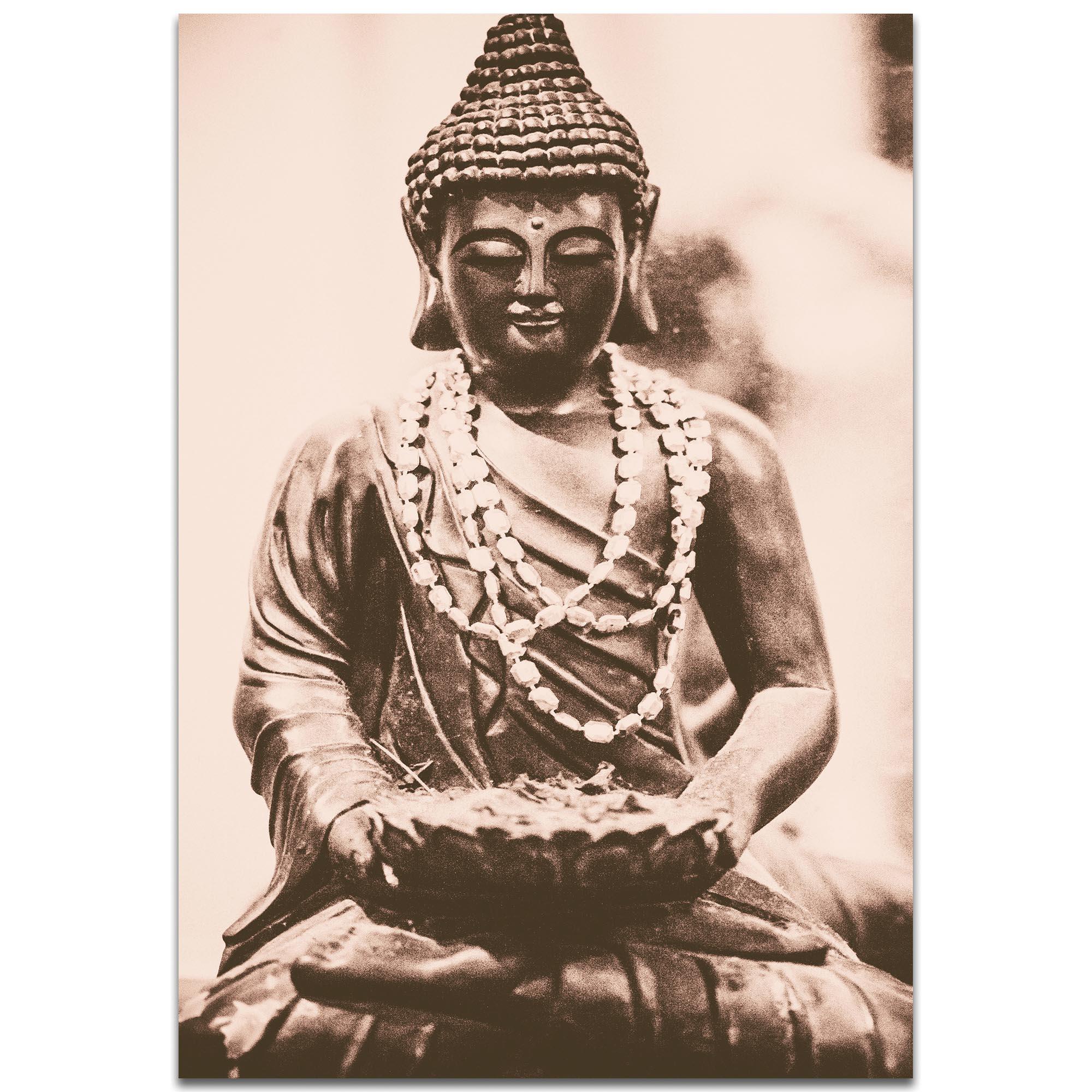 Eclectic Wall Art 'Buddha Statue' - Religion Decor on Metal or Plexiglass