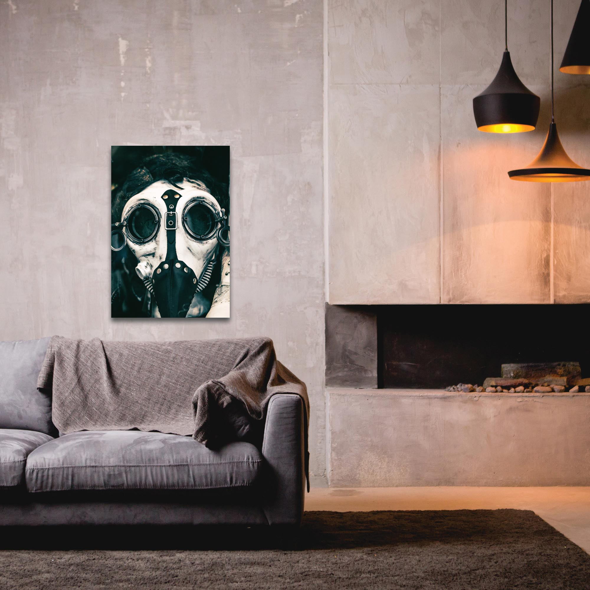 Eclectic Wall Art 'The Mask' - New Orleans Decor on Metal or Plexiglass - Lifestyle View