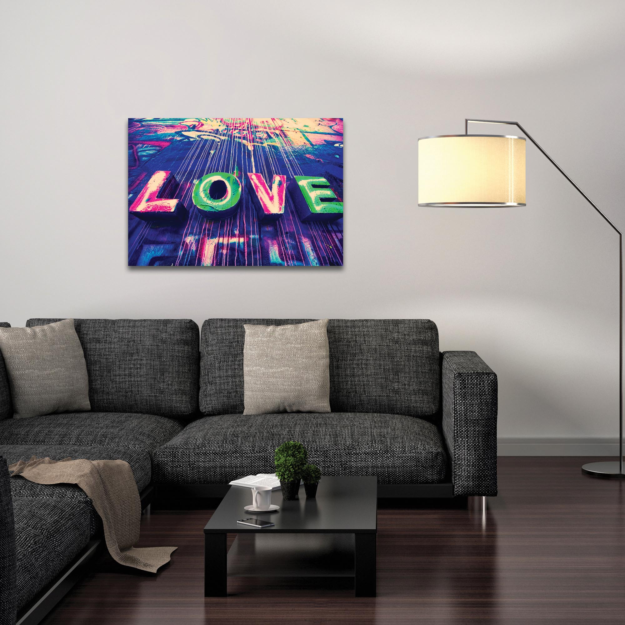 Eclectic Wall Art 'Urban Love' - New Orleans Decor on Metal or Plexiglass - Lifestyle View