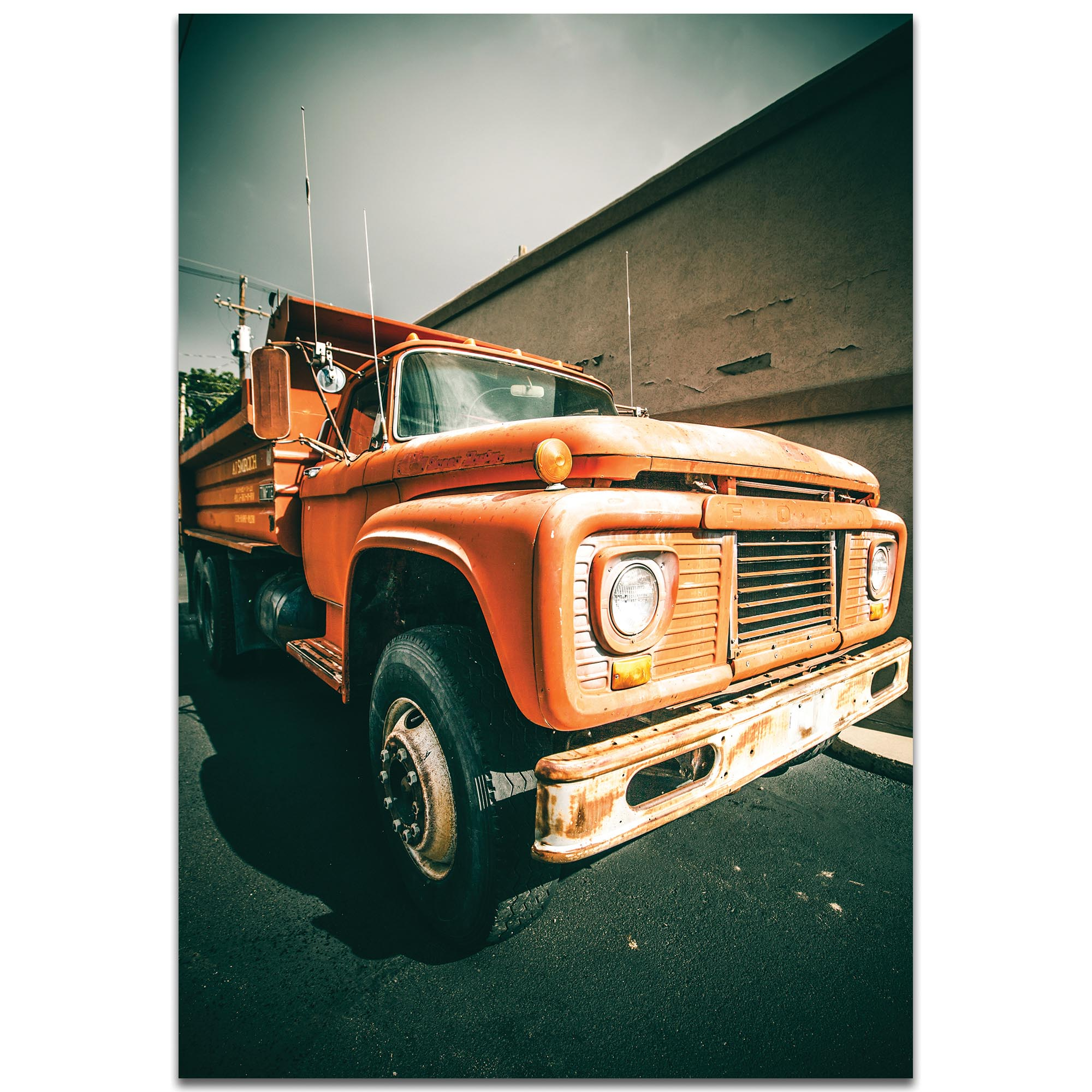 Americana Wall Art 'Old Dump' - Classic Truck Decor on Metal or Plexiglass