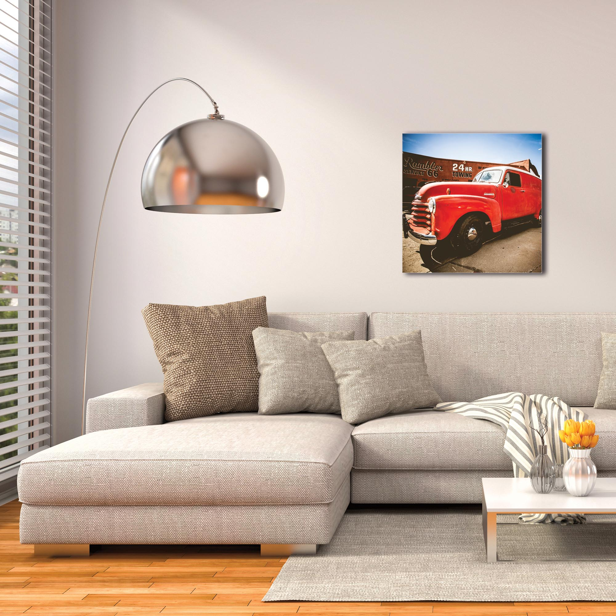 Americana Wall Art 'Big Red' - Classic Truck Decor on Metal or Plexiglass - Image 3