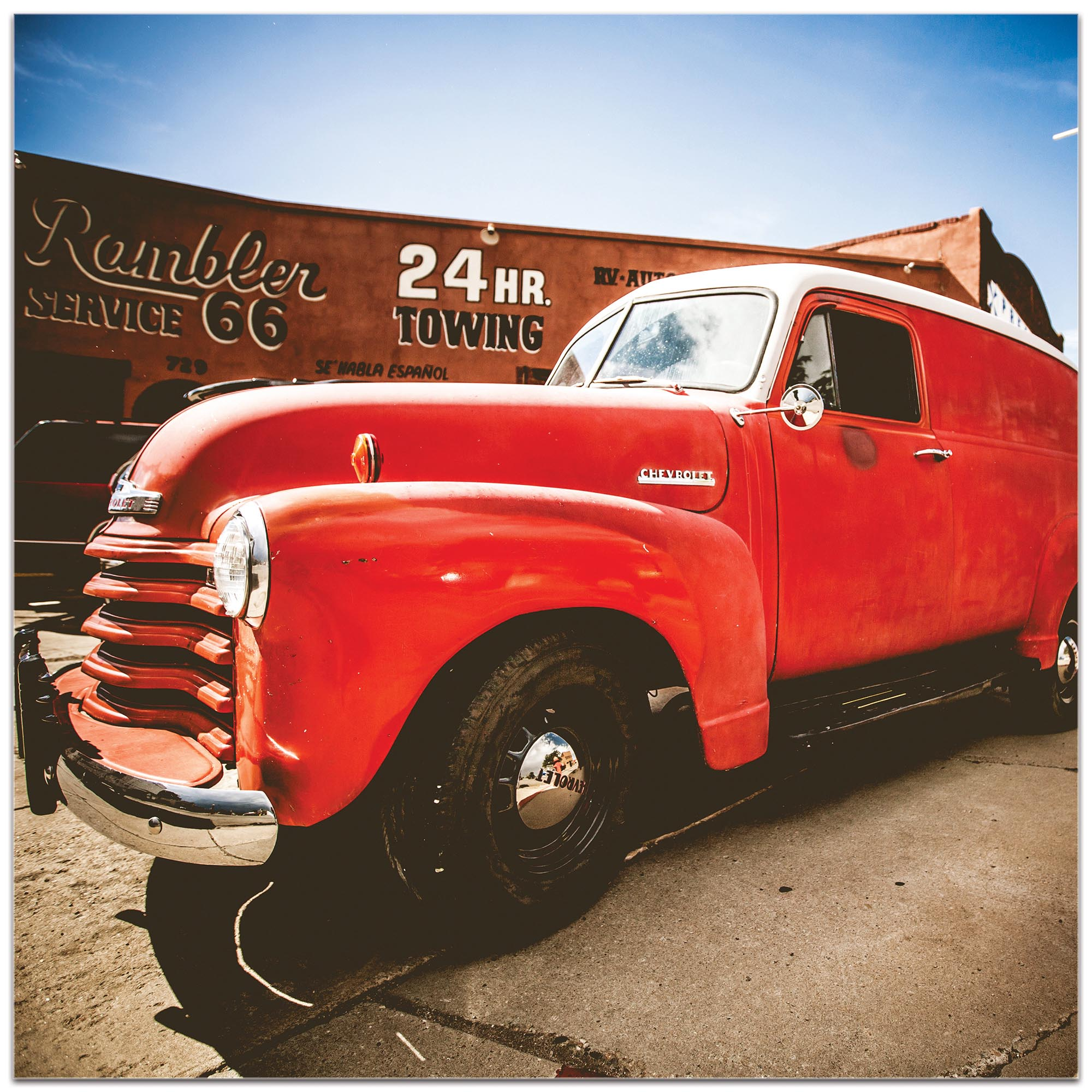 Americana Wall Art 'Big Red' - Classic Truck Decor on Metal or Plexiglass - Image 2