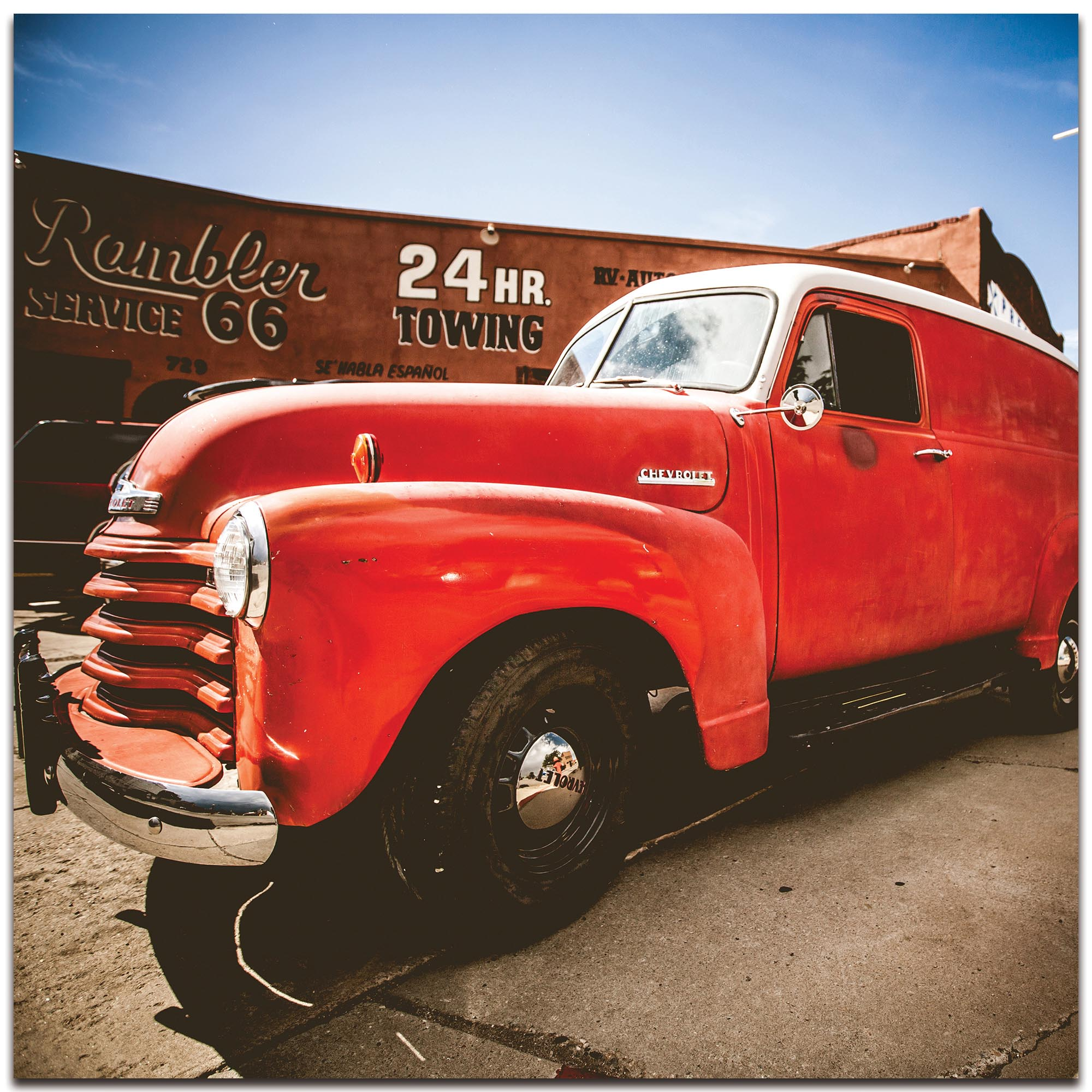 Americana Wall Art 'Big Red' - Classic Truck Decor on Metal or Plexiglass