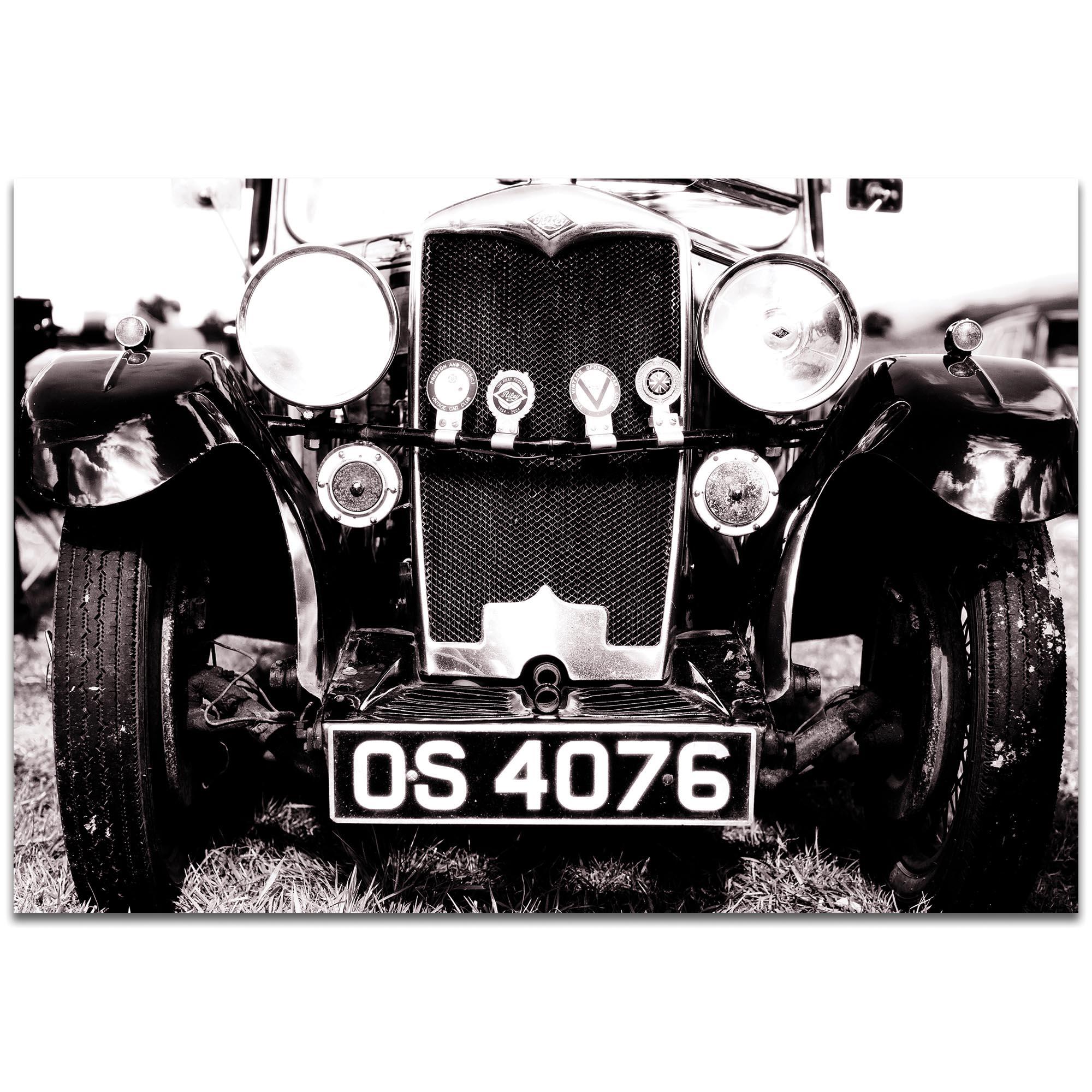 Americana Wall Art 'Vintage Grill' - Classic Cars Decor on Metal or Plexiglass
