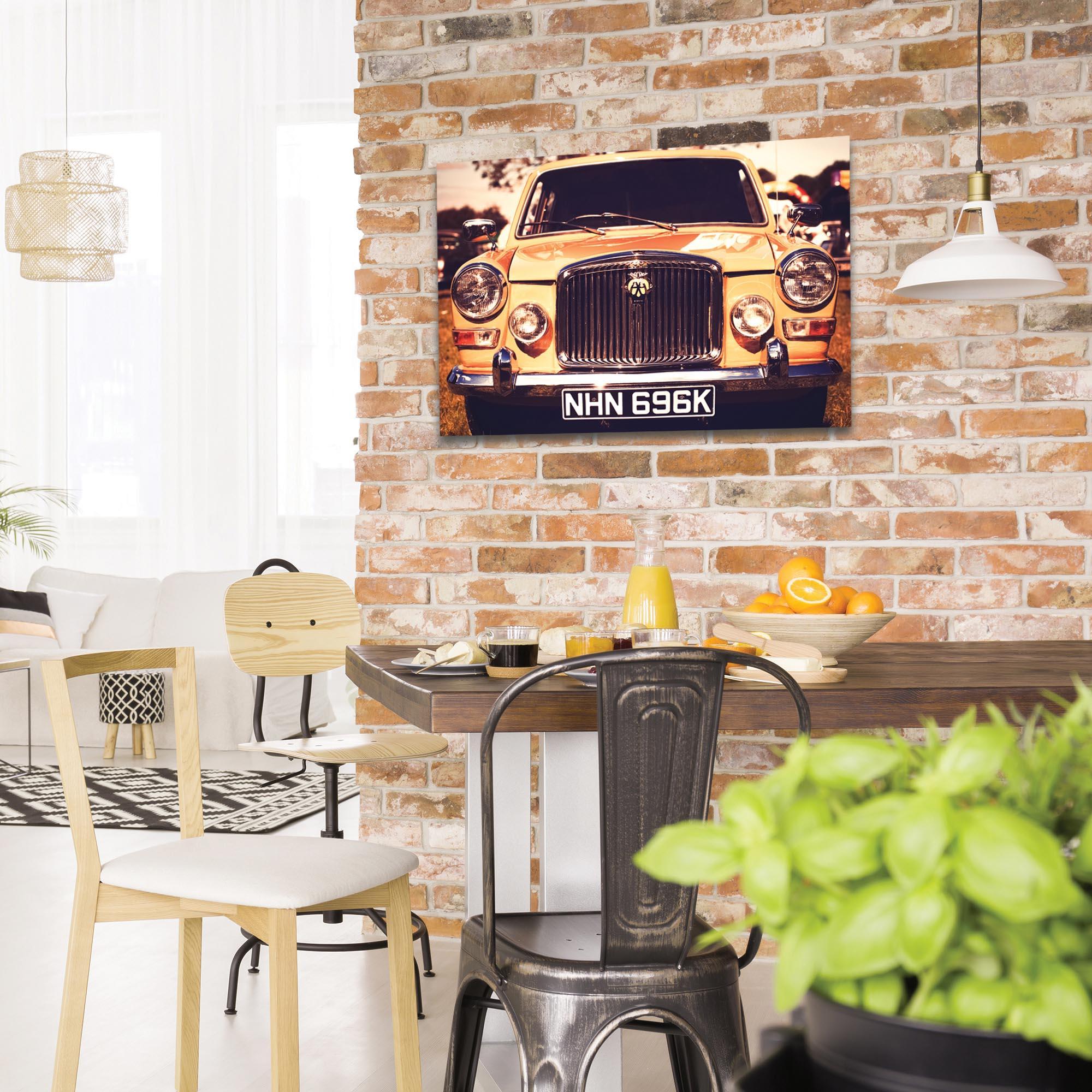 Americana Wall Art 'AA Badge Grill' - Classic Cars Decor on Metal or Plexiglass - Lifestyle View