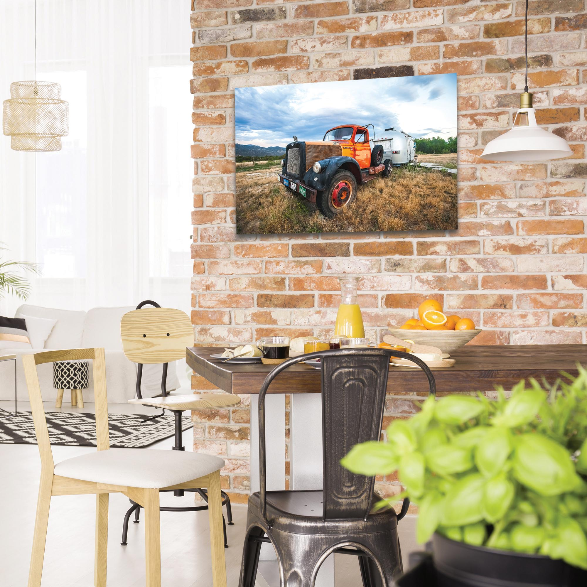 Americana Wall Art 'The Workhorse' - Classic Truck Decor on Metal or Plexiglass - Lifestyle View