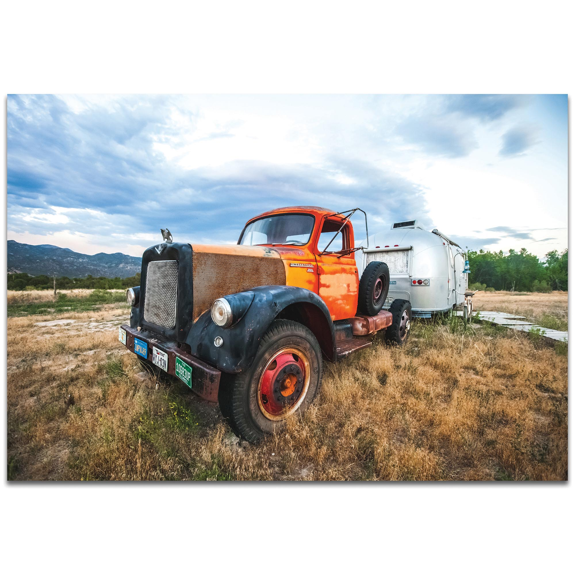 Americana Wall Art 'The Workhorse' - Classic Truck Decor on Metal or Plexiglass