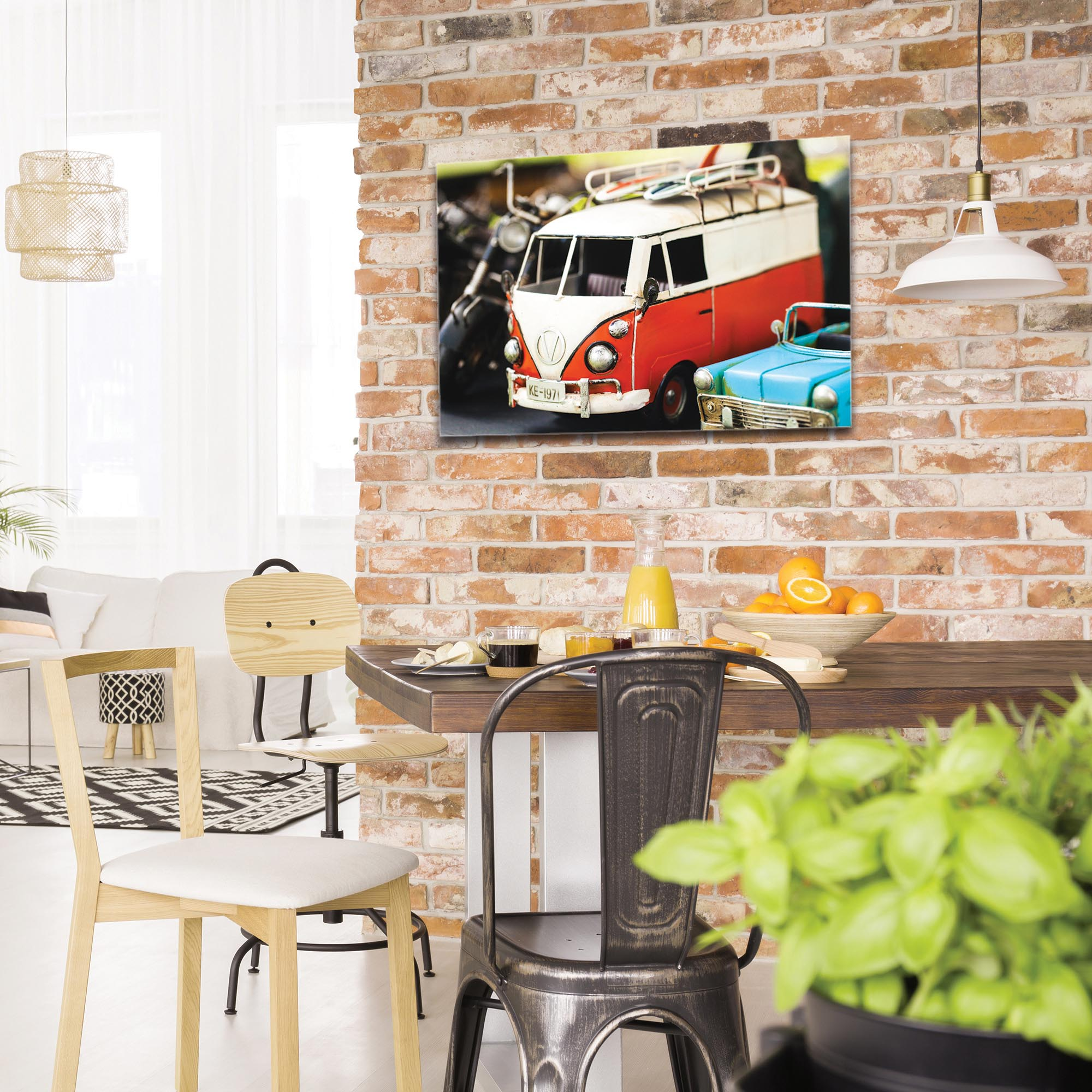 Americana Wall Art 'VW Tribute' - Classic Cars Decor on Metal or Plexiglass - Image 3