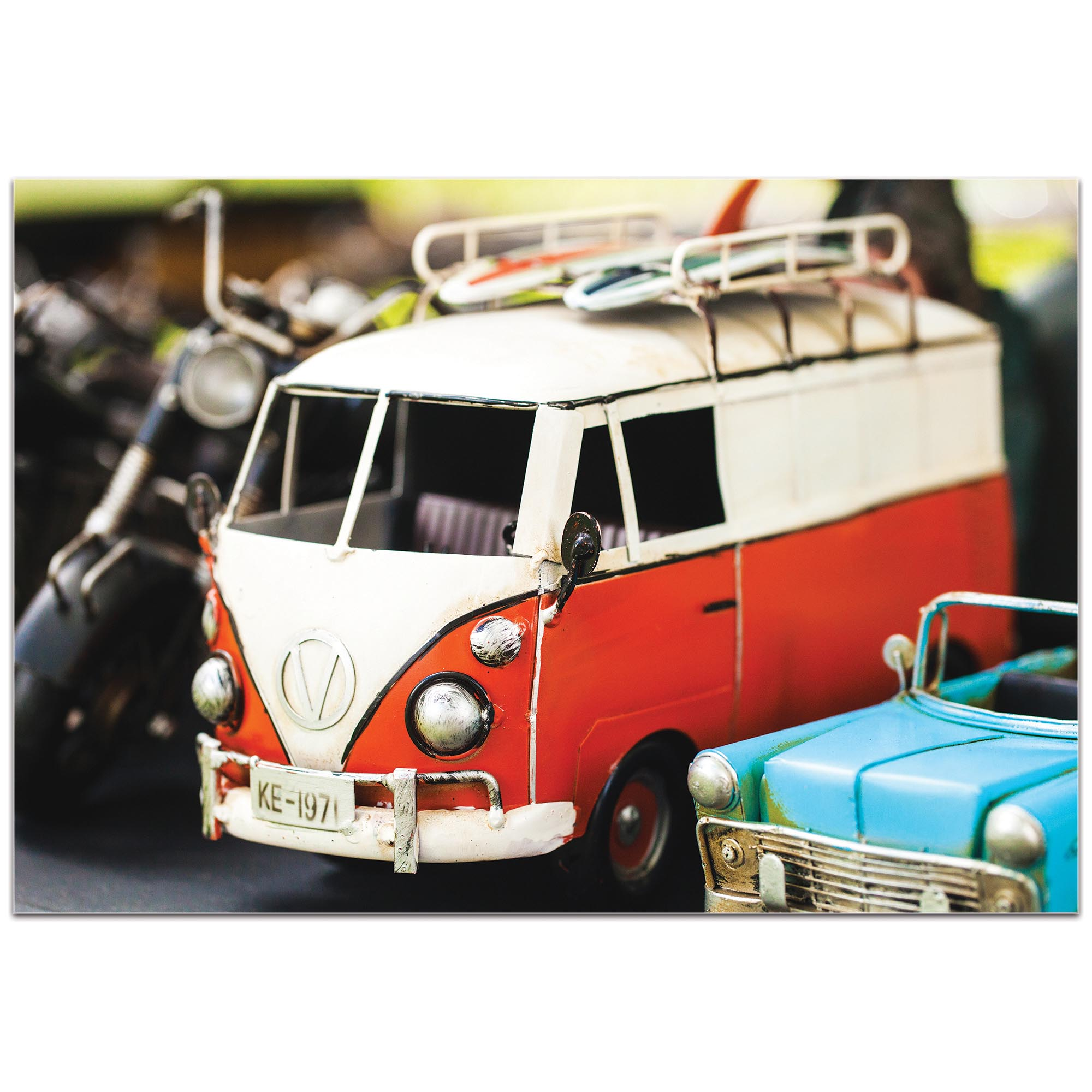 Americana Wall Art 'VW Tribute' - Classic Cars Decor on Metal or Plexiglass - Image 2