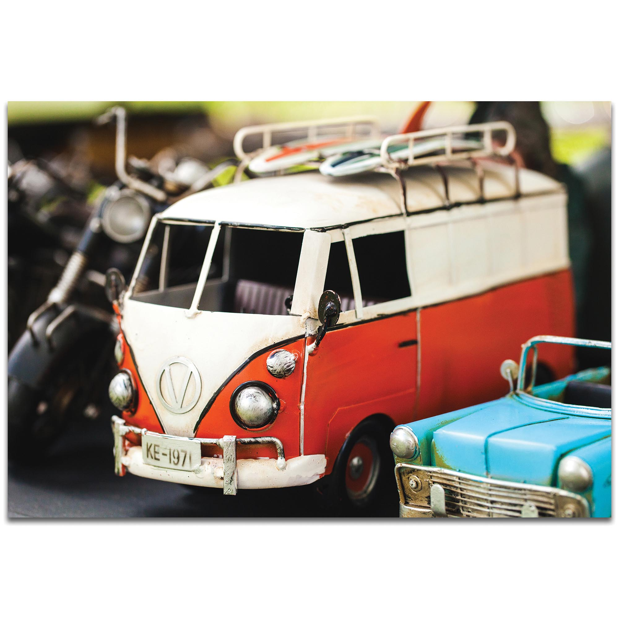 Americana Wall Art 'VW Tribute' - Classic Cars Decor on Metal or Plexiglass