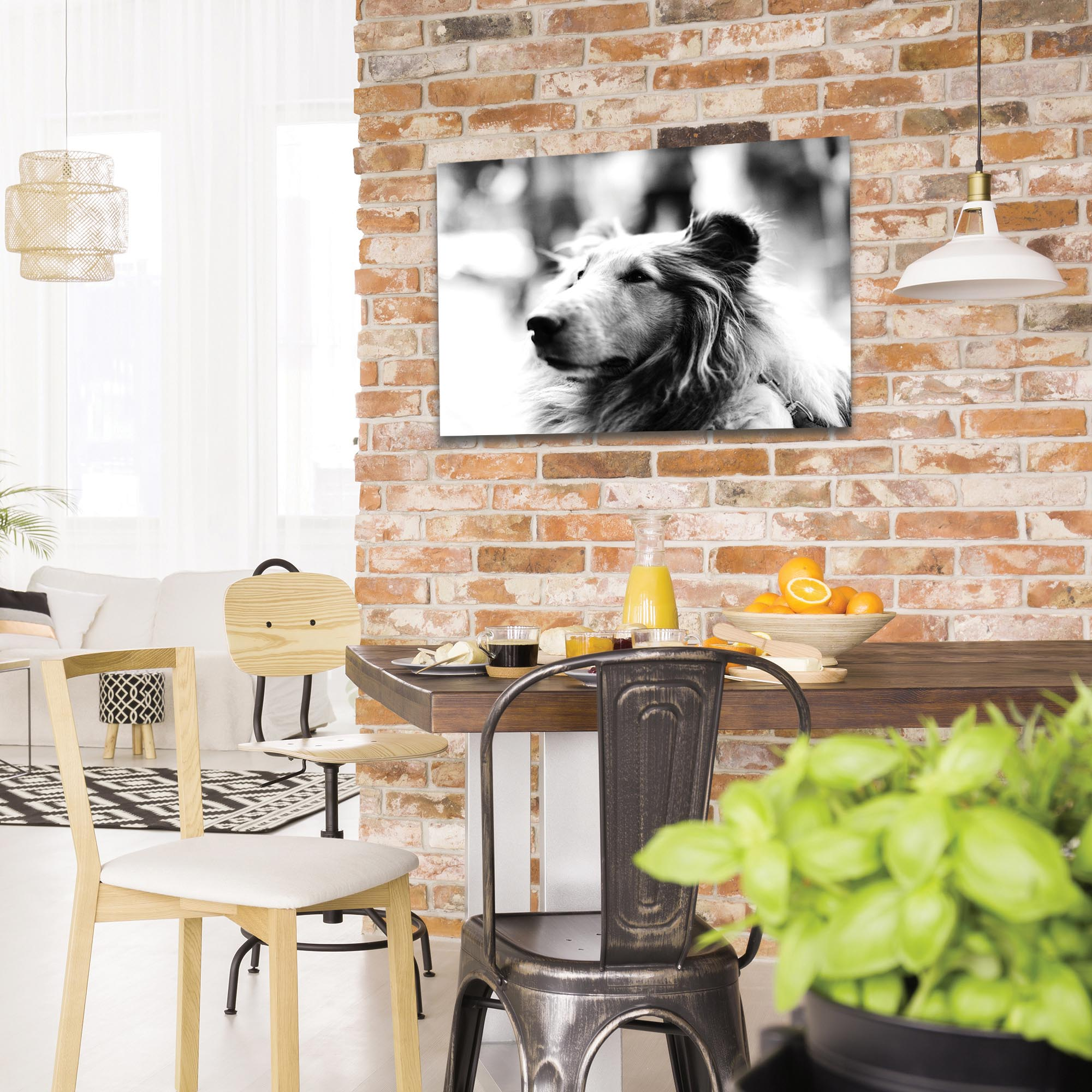 Casual Wall Art 'Loyal Friend' - Wildlife Decor on Metal or Plexiglass - Lifestyle View