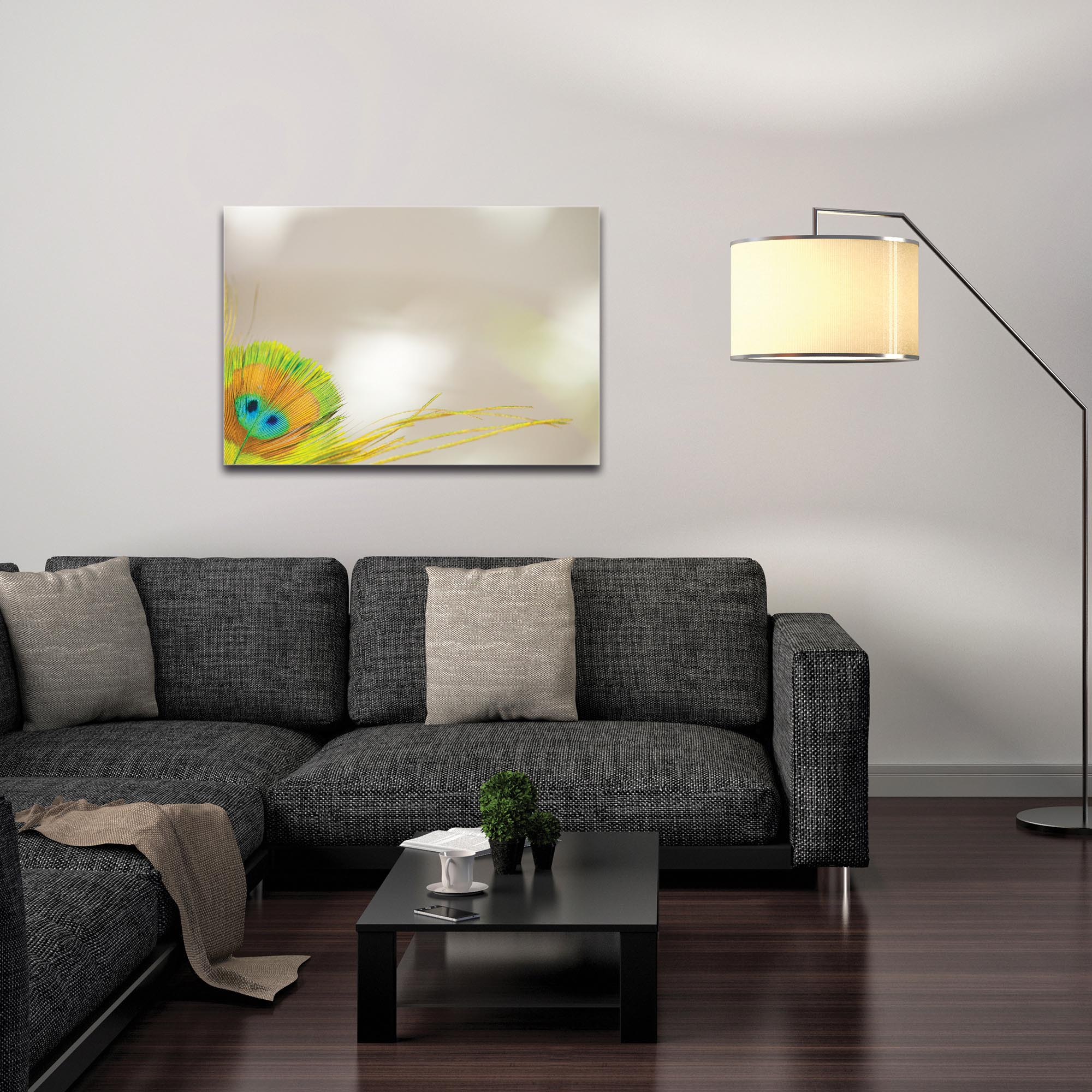 Contemporary Wall Art 'Peacock Corner' - Wildlife Decor on Metal or Plexiglass - Image 3