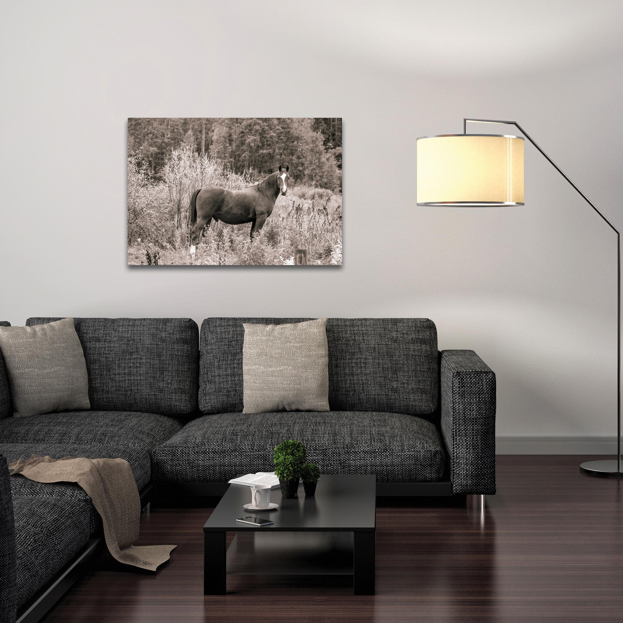 Western Wall Art 'Equine Forest' - Horses Decor on Metal or Plexiglass - Lifestyle View