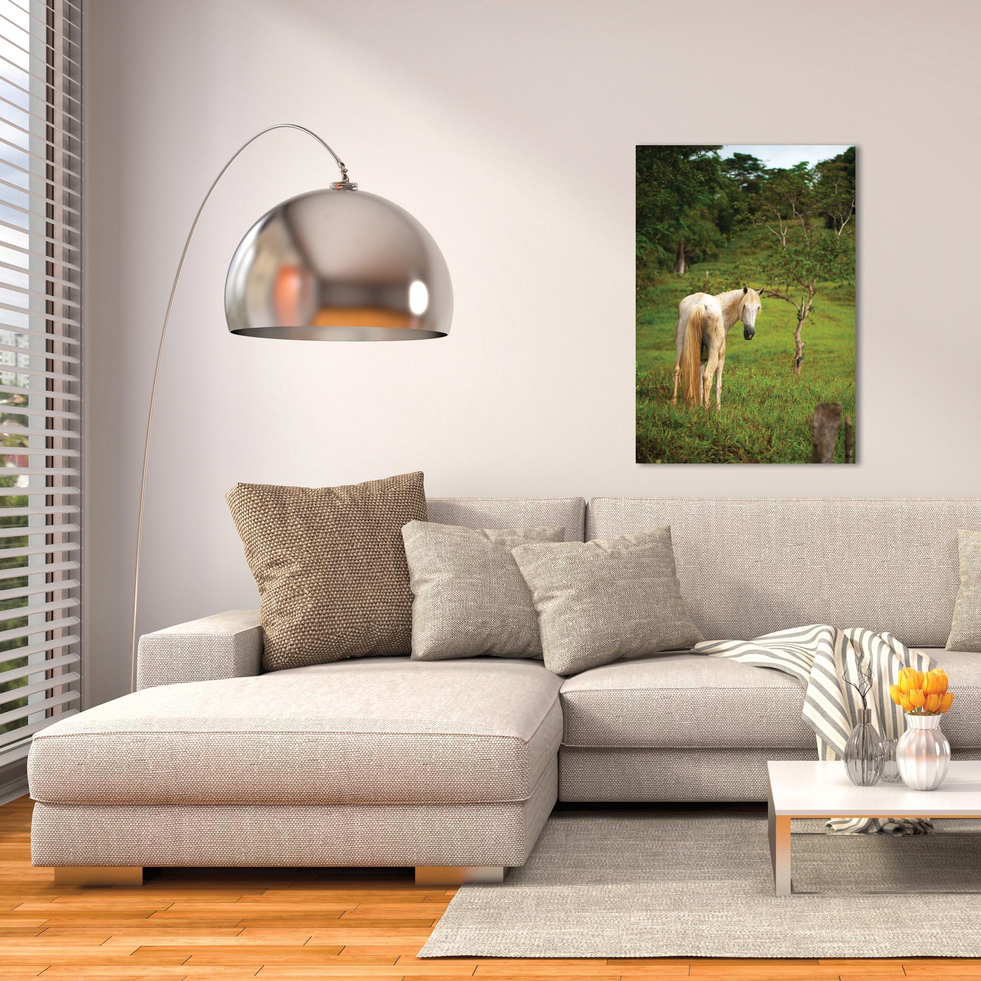 Western Wall Art 'Equine Invitation' - Horses Decor on Metal or Plexiglass - Lifestyle View