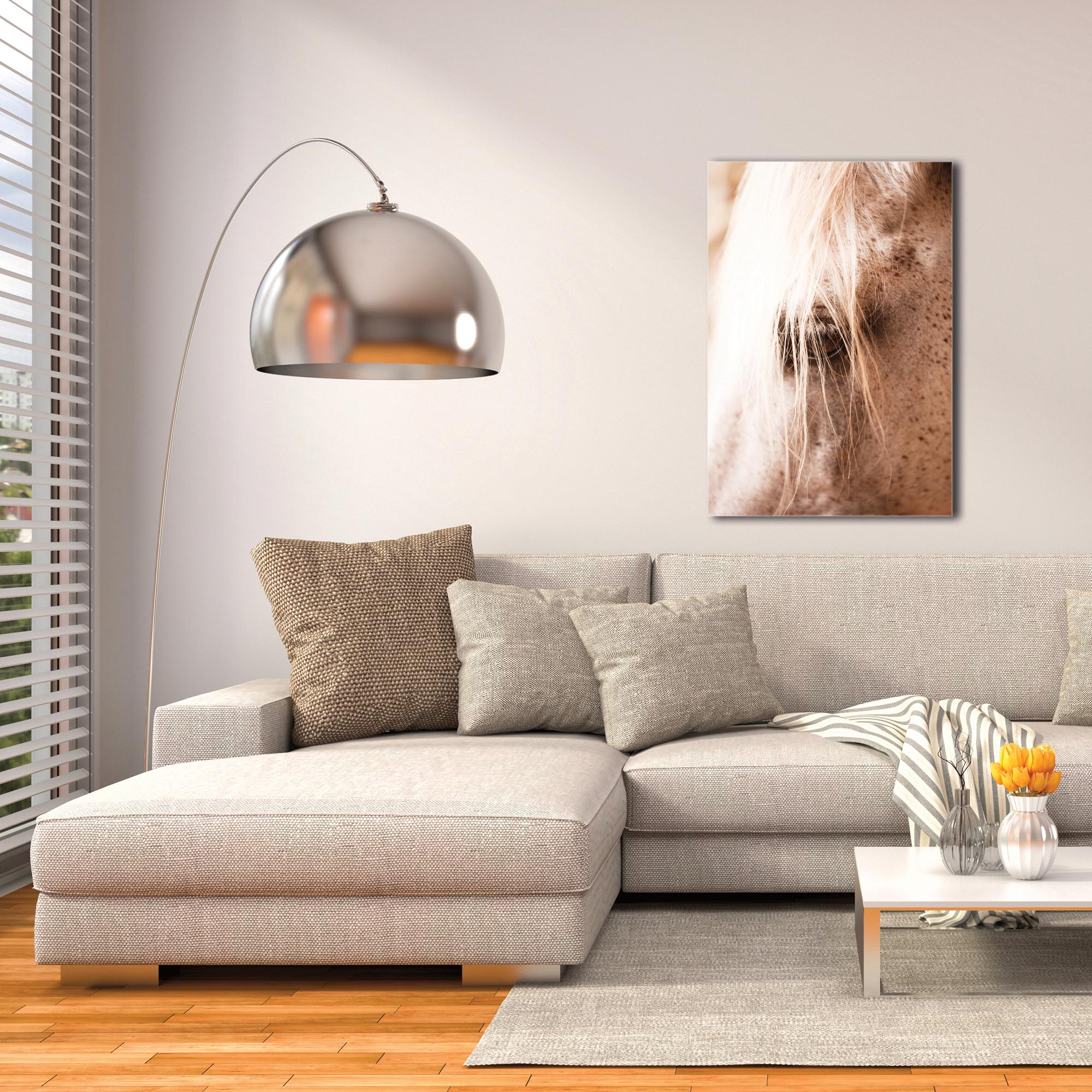Contemporary Wall Art 'Horse Eye' - Horses Decor on Metal or Plexiglass - Image 3