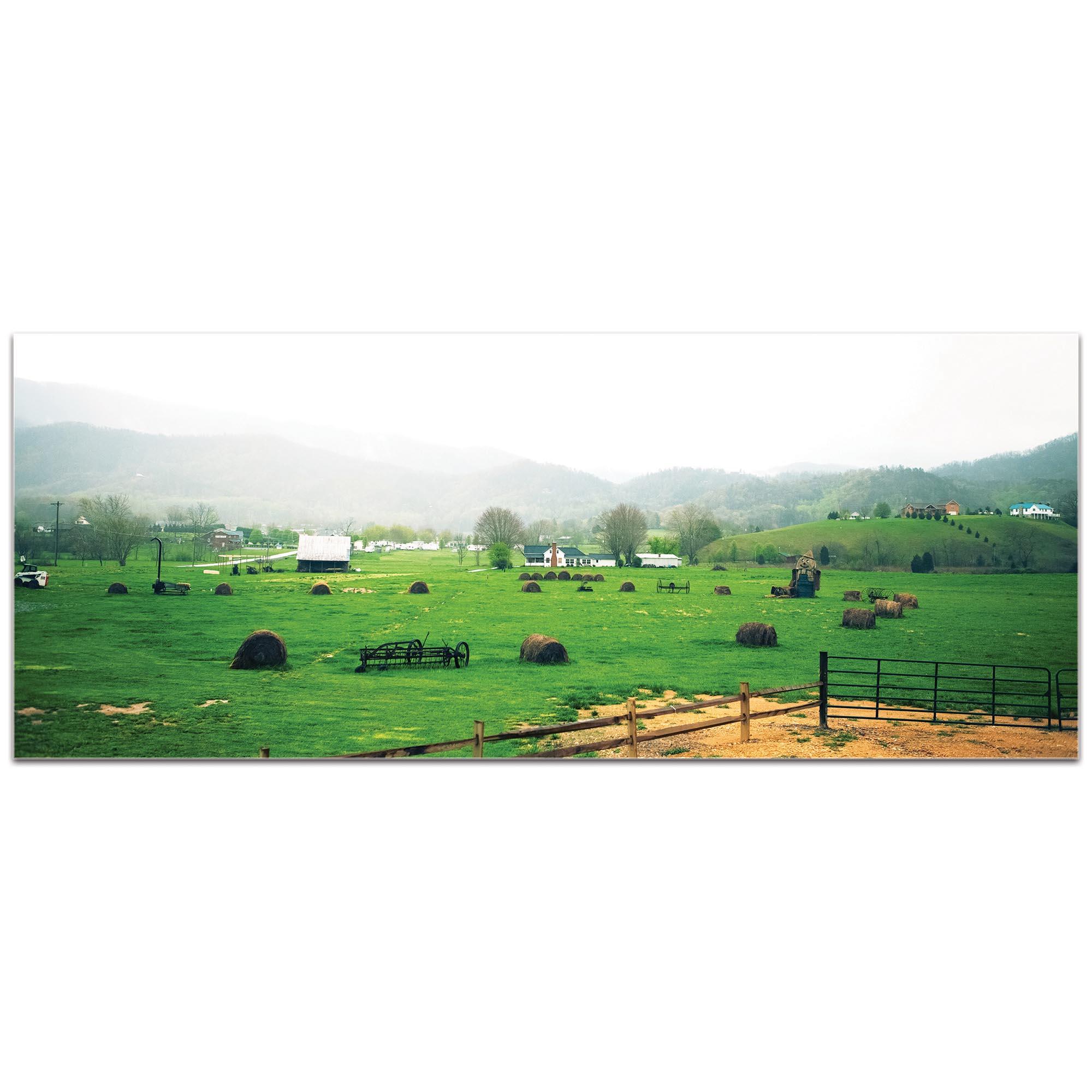 Western Wall Art 'Farming Town' - Farm Landscape Decor on Metal or Plexiglass - Image 2
