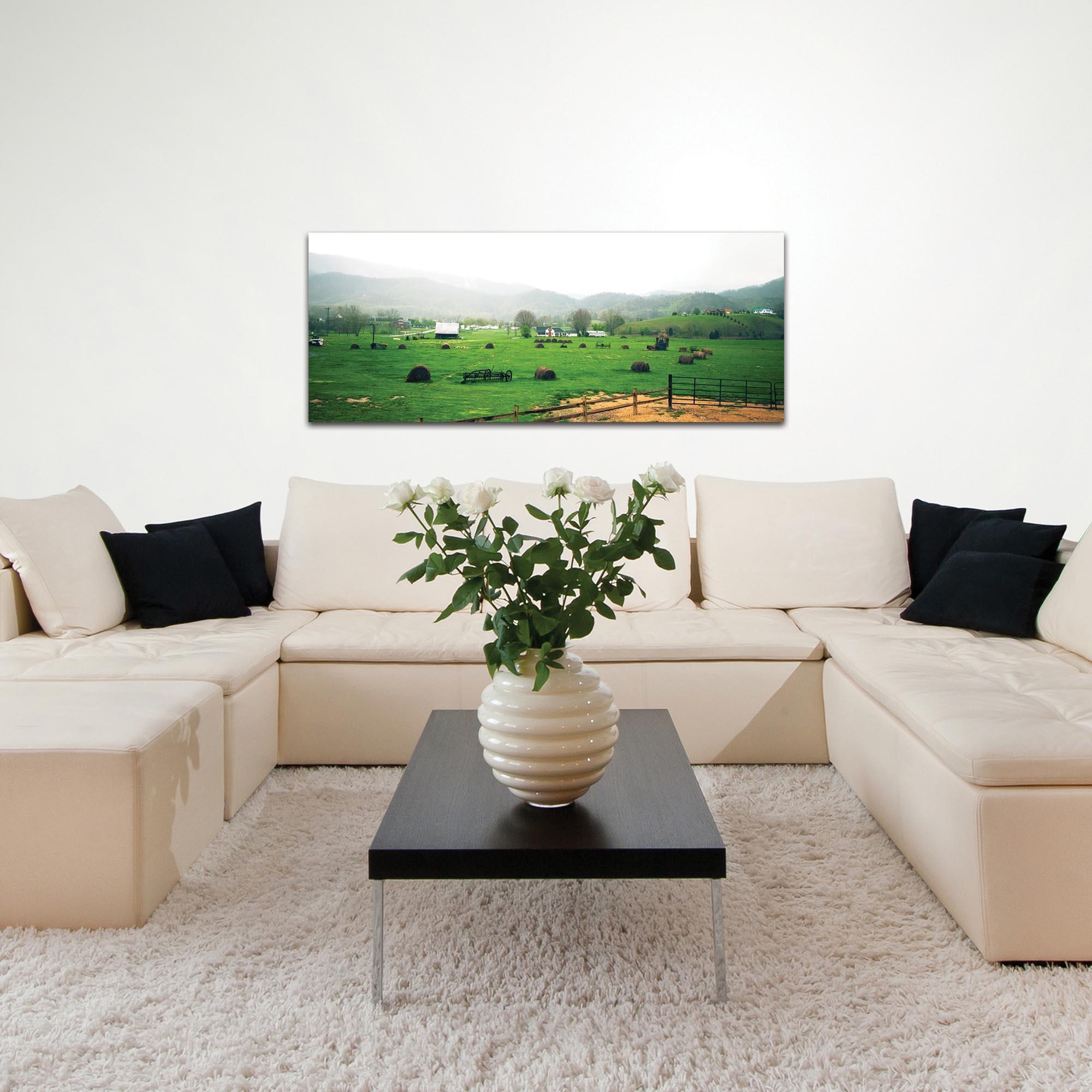Western Wall Art 'Farming Town' - Farm Landscape Decor on Metal or Plexiglass - Lifestyle View