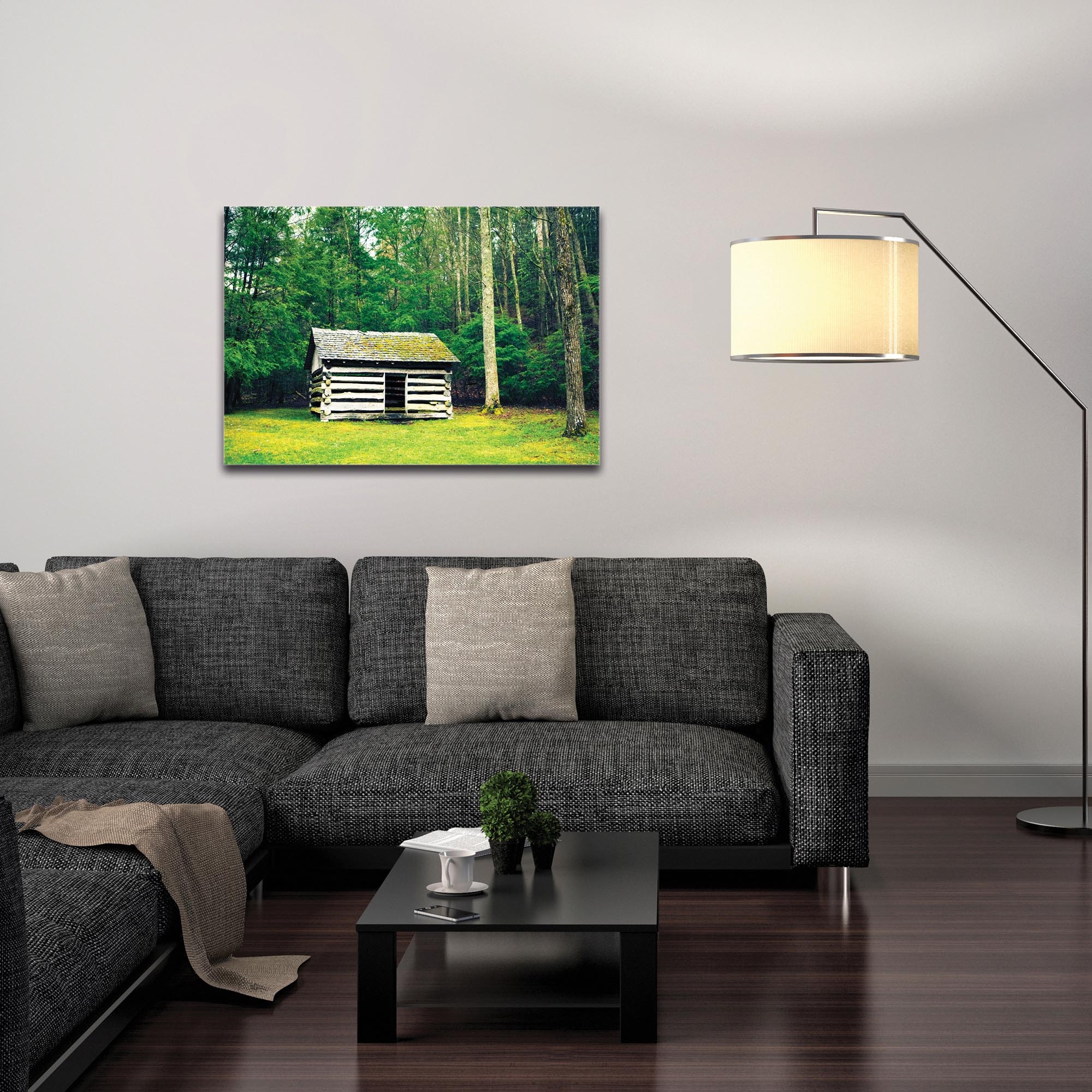 Western Wall Art 'The Cottage' - Farm Landscape Decor on Metal or Plexiglass - Image 3