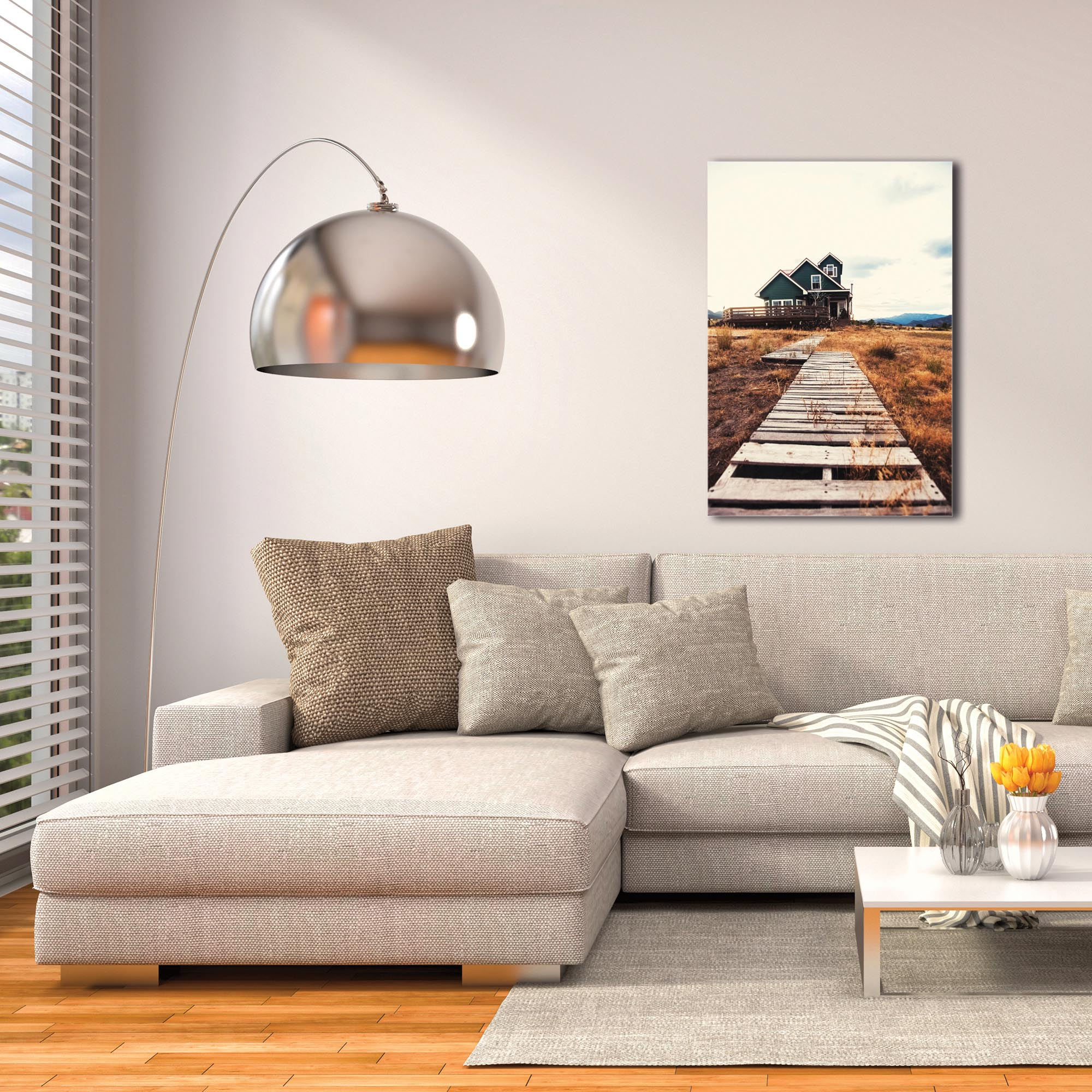 Western Wall Art 'The Walkway' - Farm Landscape Decor on Metal or Plexiglass - Image 3