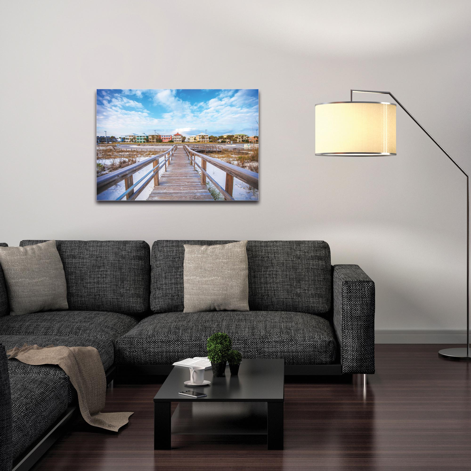 Coastal Wall Art 'Gulf Path' - Bridges Decor on Metal or Plexiglass - Image 3