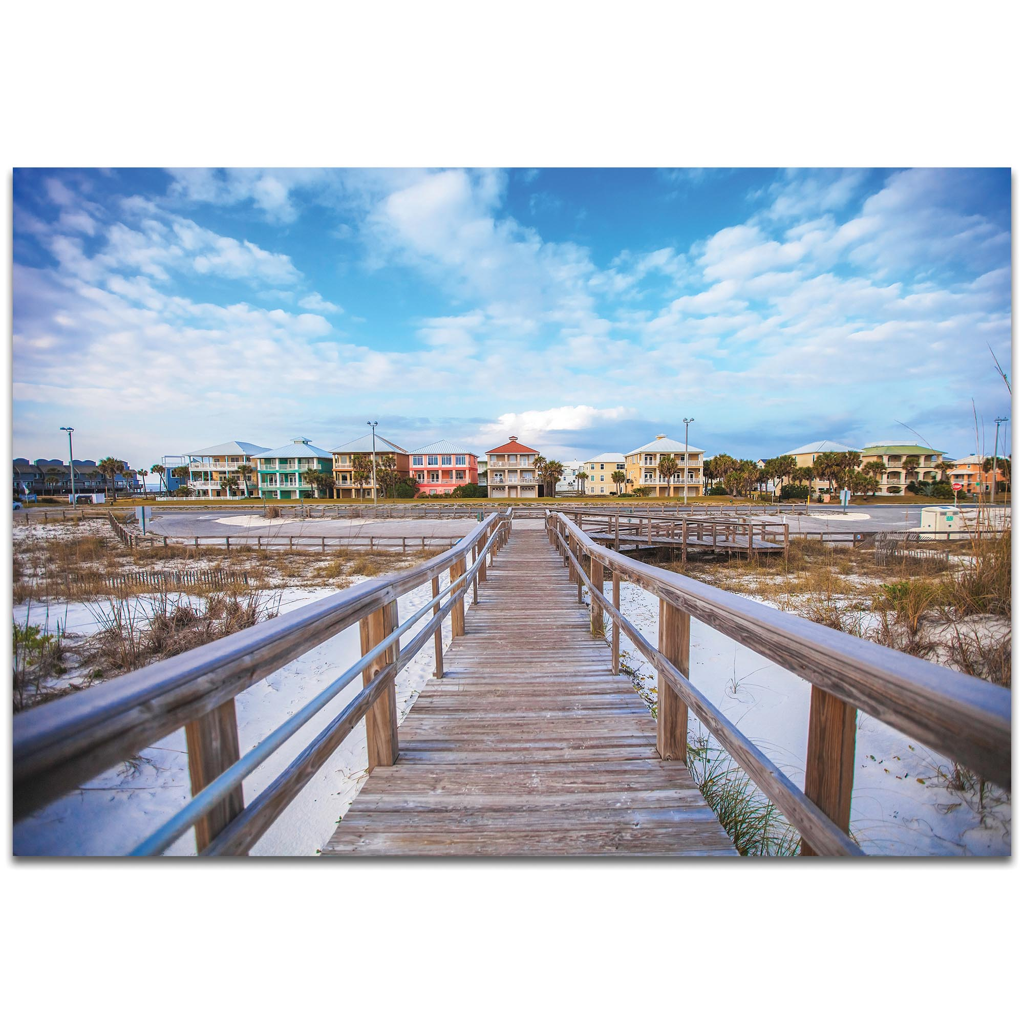 Coastal Wall Art 'Gulf Path' - Bridges Decor on Metal or Plexiglass