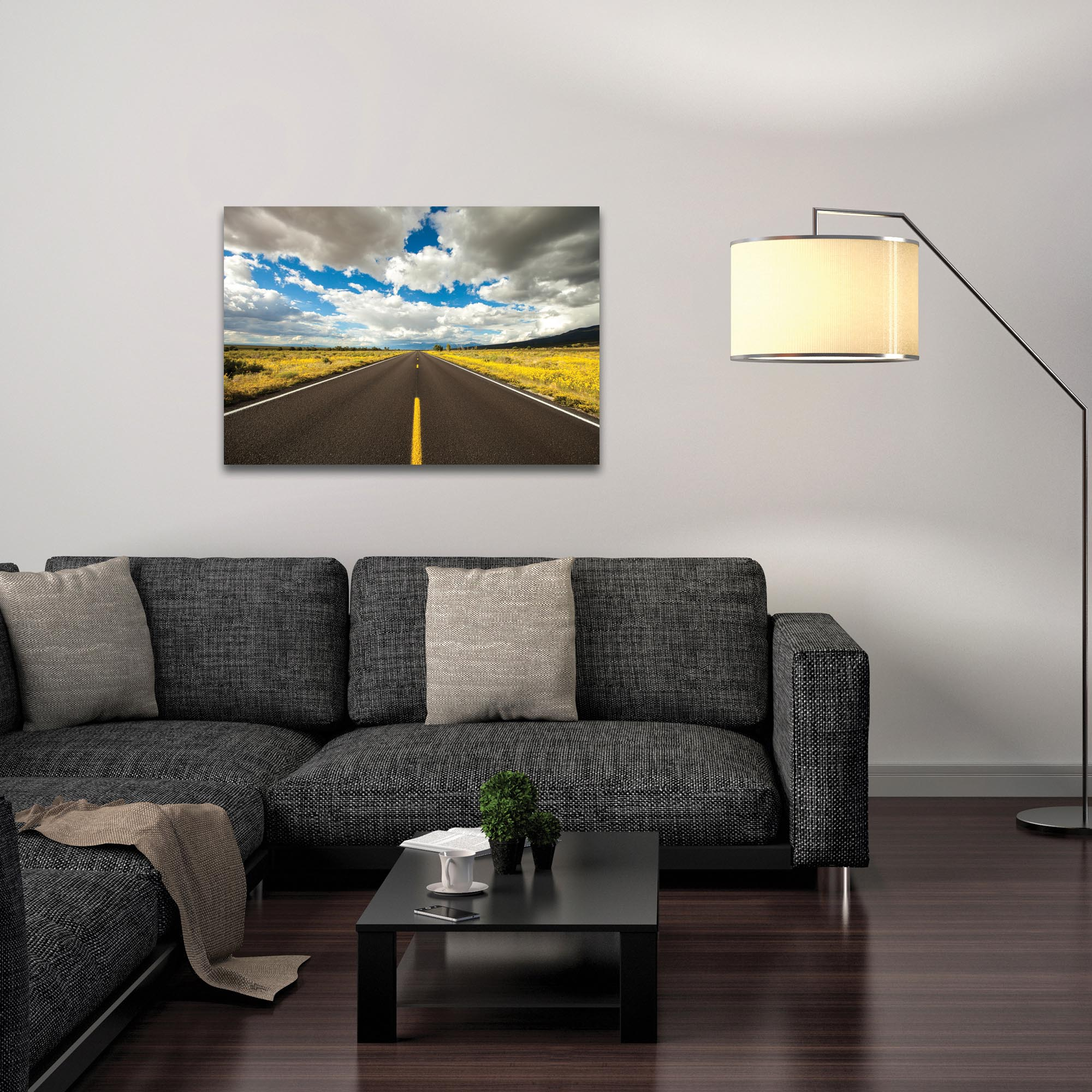 Americana Wall Art 'Road Trip' - Open Road Decor on Metal or Plexiglass - Lifestyle View