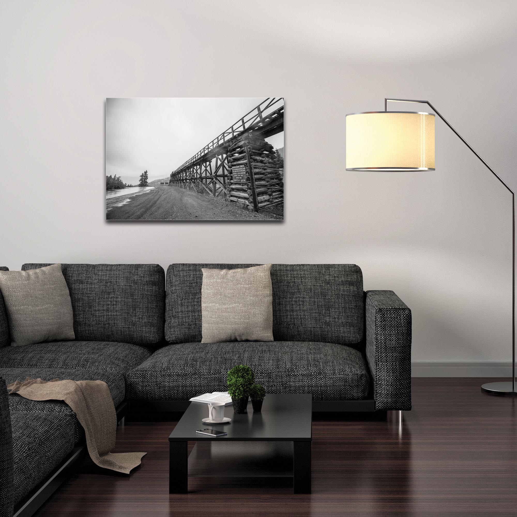 Western Wall Art 'Old Railroad Bridge' - Bridges Decor on Metal or Plexiglass - Image 3
