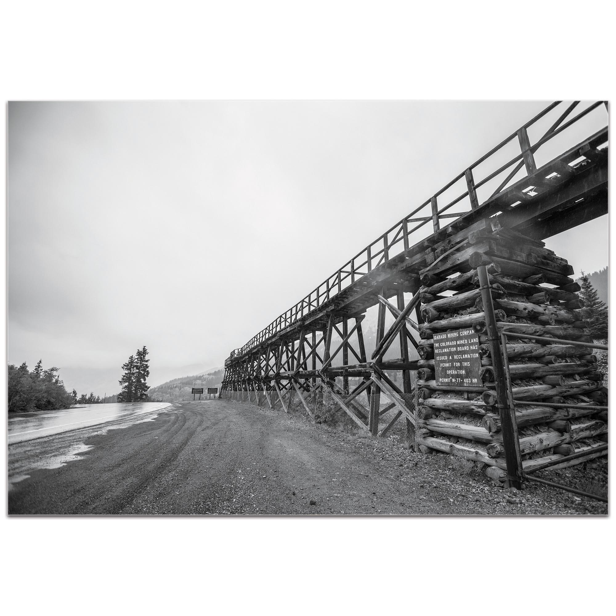 Western Wall Art 'Old Railroad Bridge' - Bridges Decor on Metal or Plexiglass - Image 2