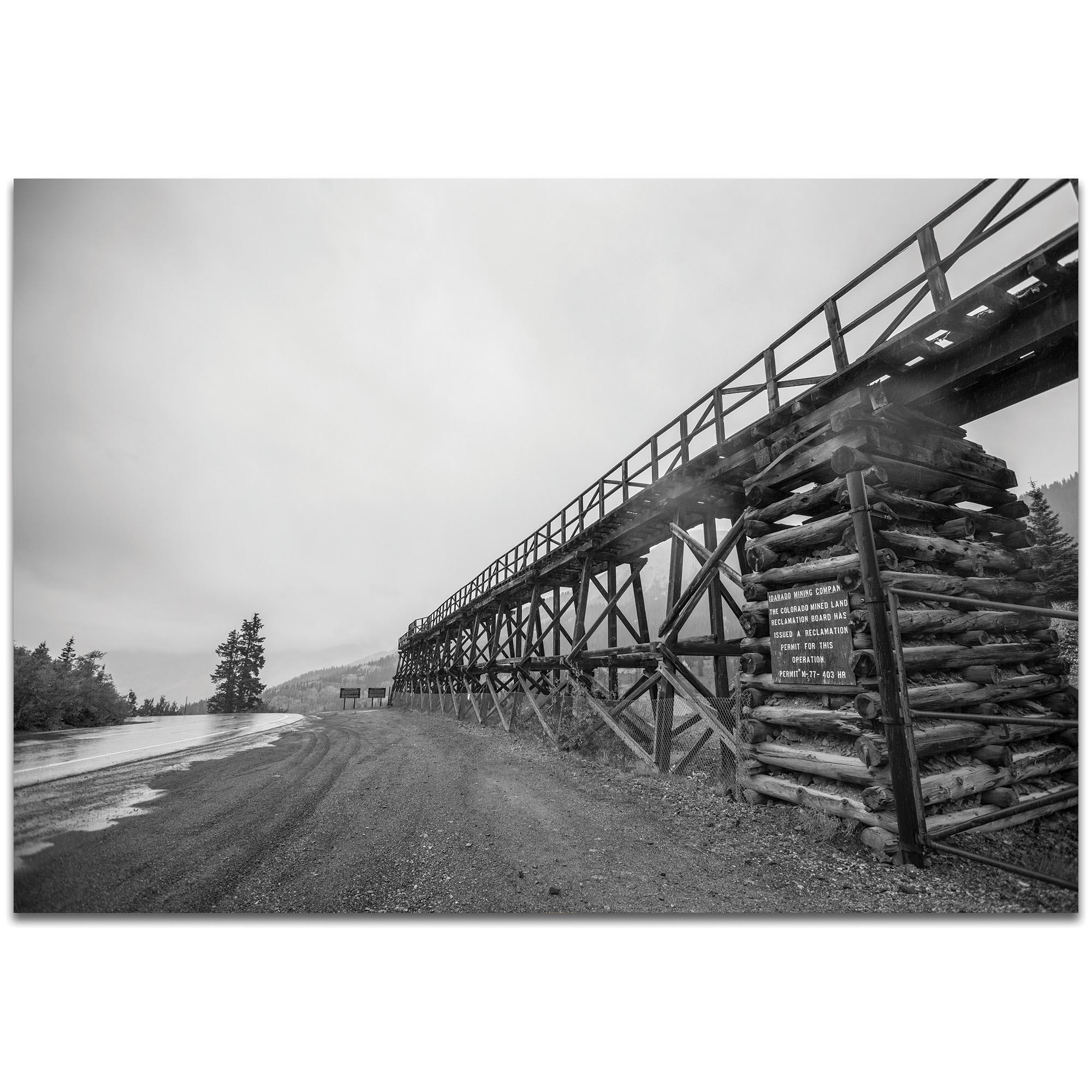 Western Wall Art 'Old Railroad Bridge' - Bridges Decor on Metal or Plexiglass