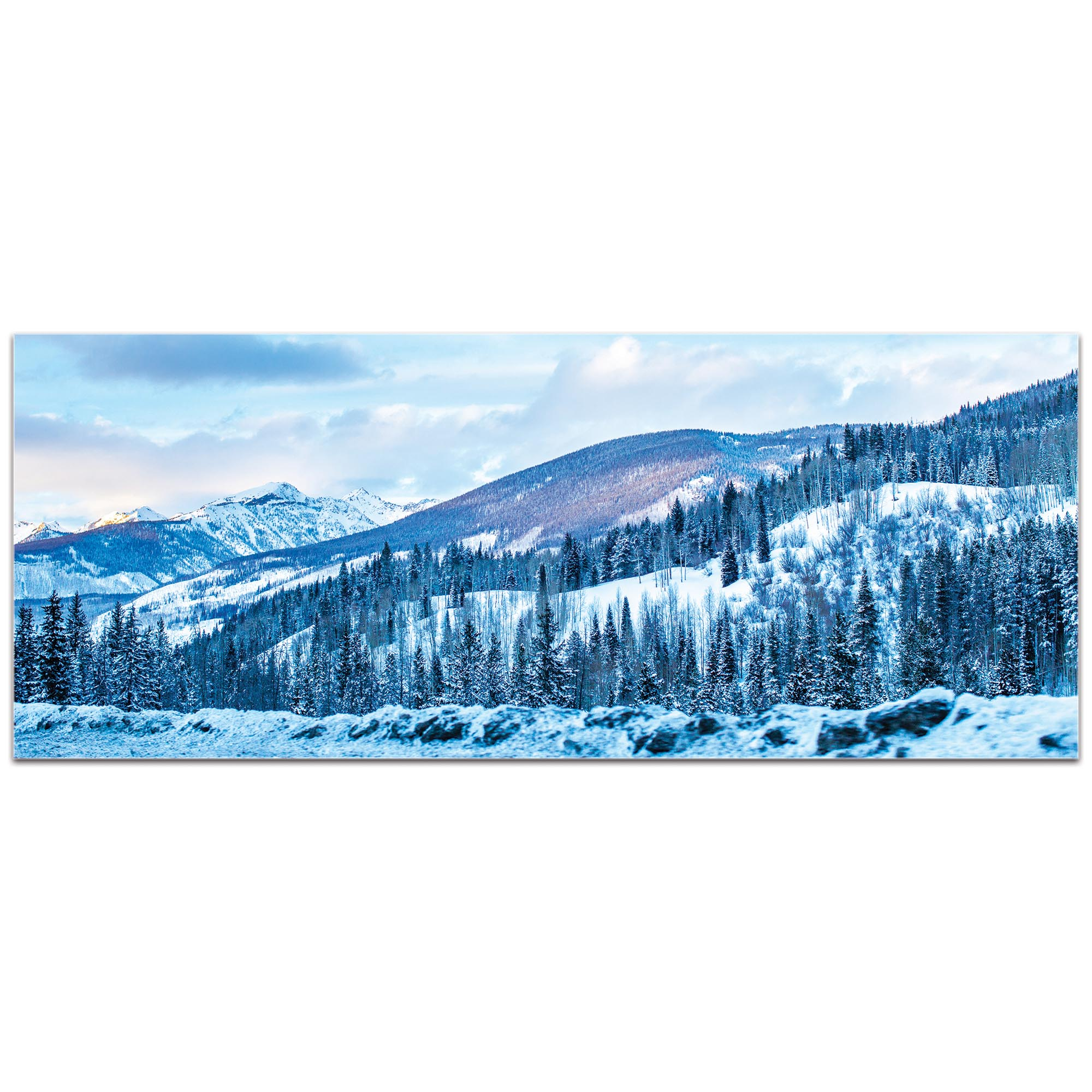 Landscape Photography 'The Slopes' - Winter Scene Art on Metal or Plexiglass - Image 2