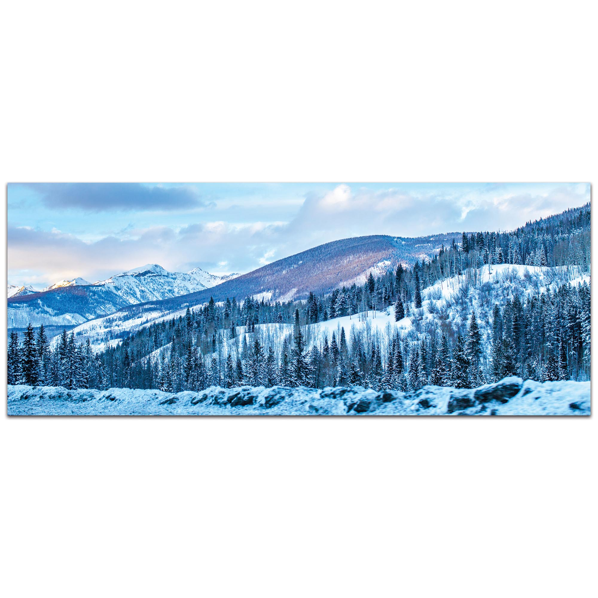 Landscape Photography 'The Slopes' - Winter Scene Art on Metal or Plexiglass