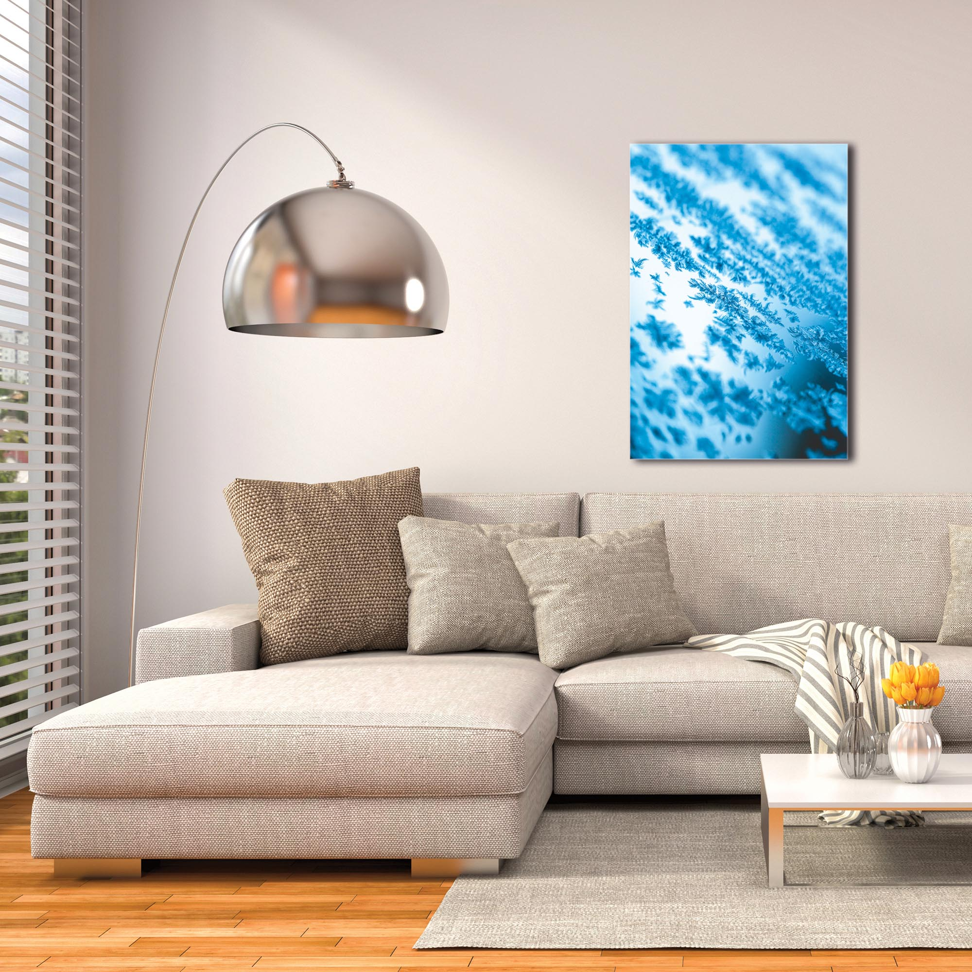 Modern Wall Art 'Icy' - Winter Decor on Metal or Plexiglass - Image 3